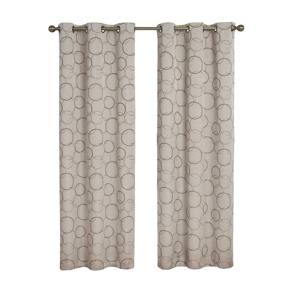 Eclipse Meridian Blackout Window Curtain Panel In Linen – 42 In. W X 95 In (View 4 of 20)