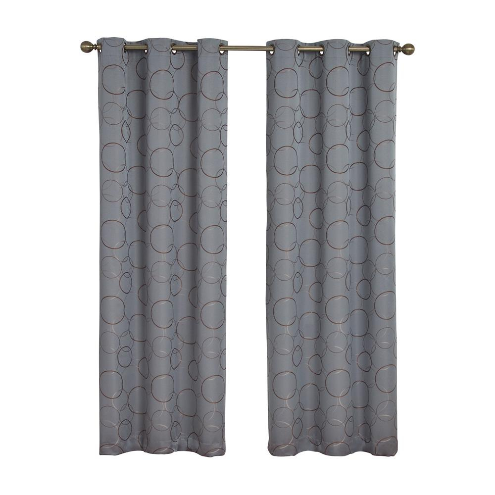 Eclipse Meridian Blackout Window Curtain Panel In River Blue – 42 In. W X 84 In (View 2 of 20)
