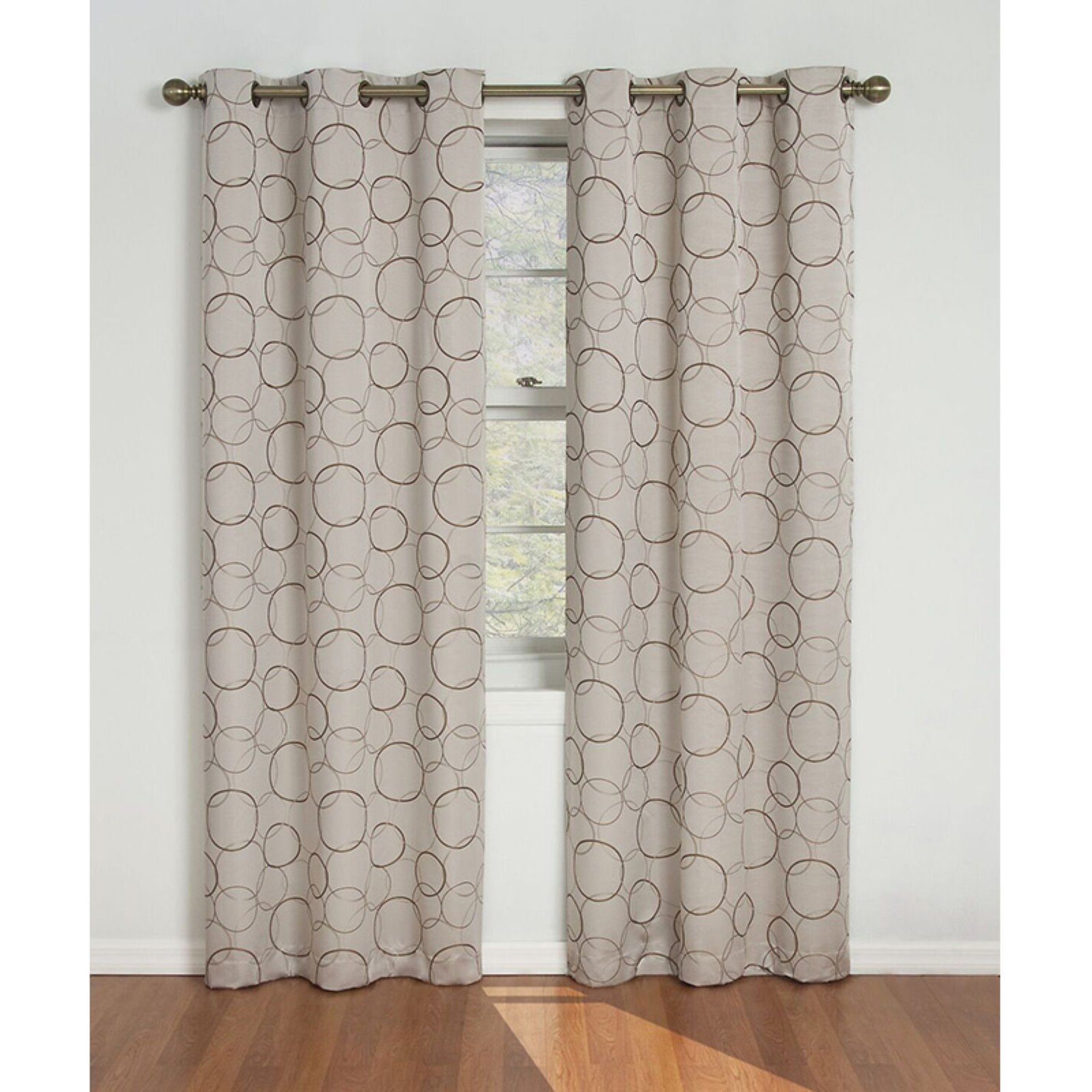 Eclipse Meridian Blackout Window Curtain Panel Linen For Caldwell Curtain Panel Pairs (View 4 of 20)