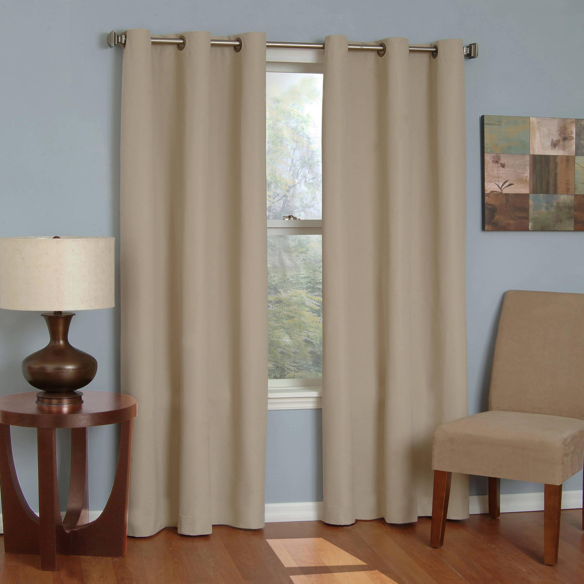 Eclipse Microfiber Energy Efficient Grommet Blackout Curtain Panel With Regard To Blackout Grommet Curtain Panels (View 2 of 20)