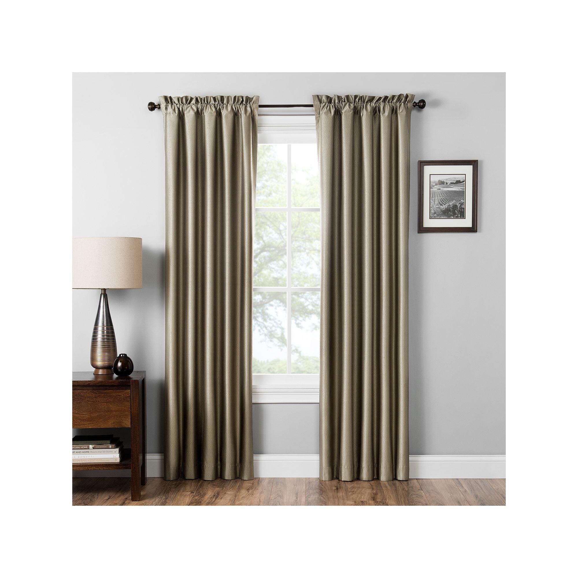 Eclipse Miles Blackout Window Curtain, Brown, 42x84 With Thermaback Blackout Window Curtains (View 24 of 30)