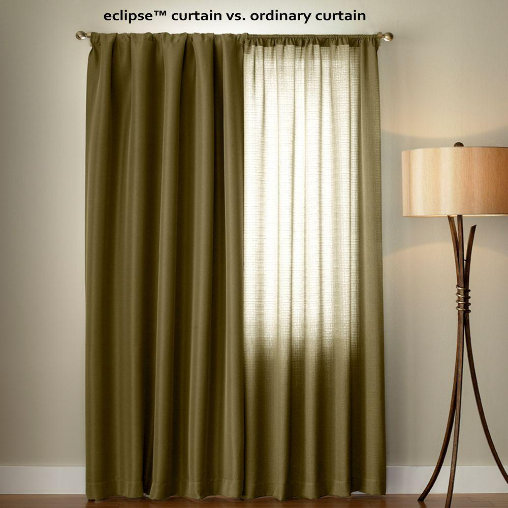 Eclipse Nadya Print Blackout Window Curtain Panel In Smokey Blue – 52 In. W X 84 In (View 6 of 20)