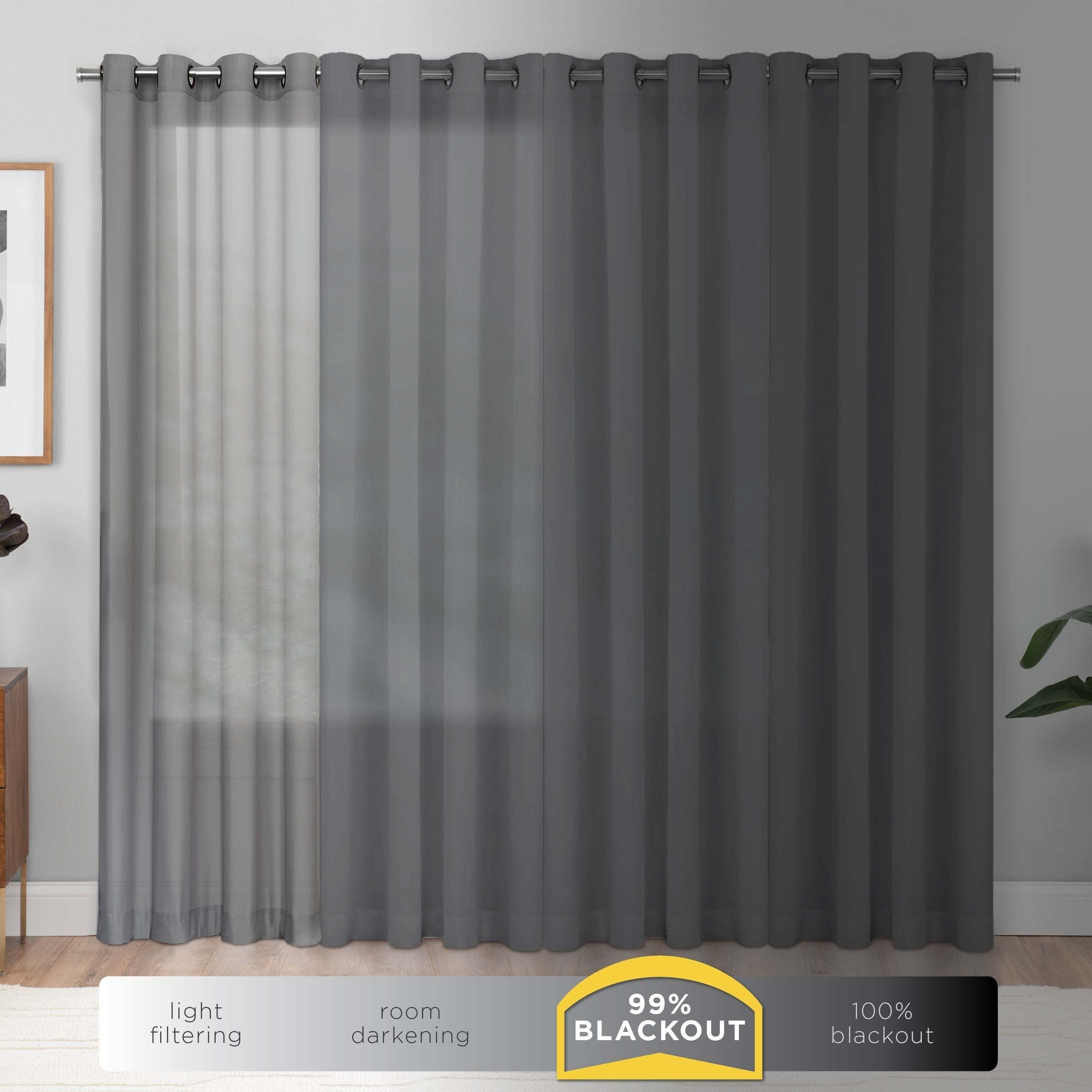 Eclipse Newport Blackout Curtain Panel – 52x95 Throughout Eclipse Newport Blackout Curtain Panels (View 3 of 20)