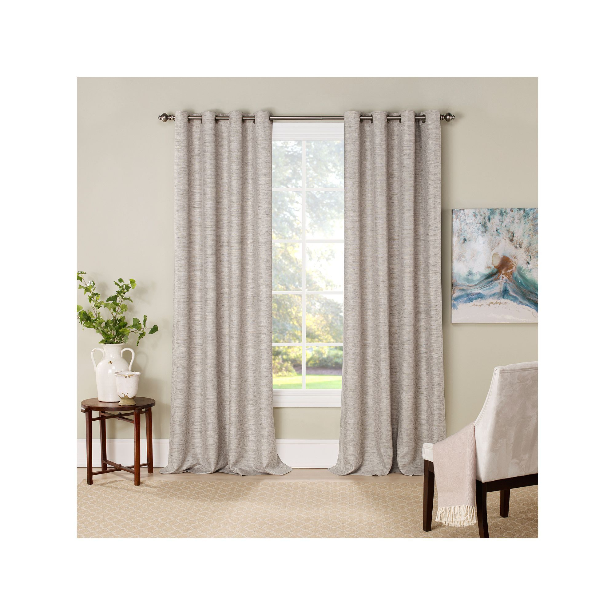 Eclipse Newport Thermalayer Room Darkening Window Curtain Within Eclipse Trevi Blackout Grommet Window Curtain Panels (View 15 of 20)