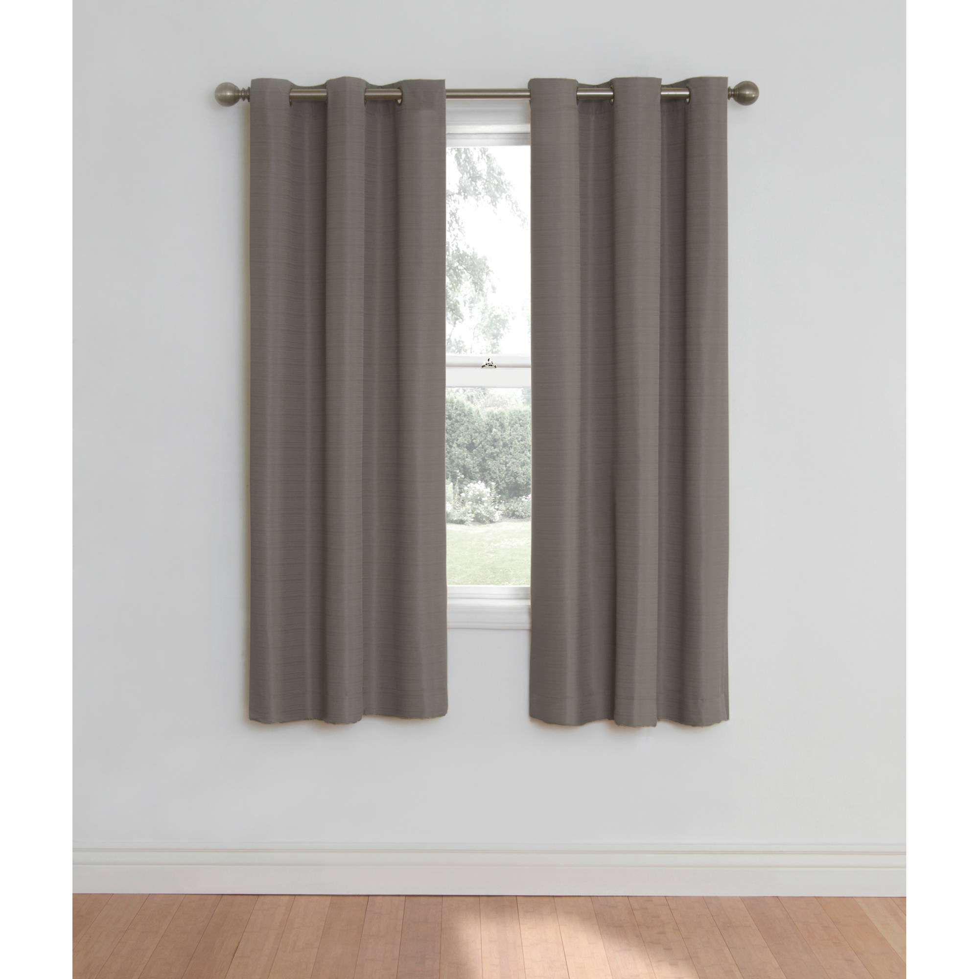 Eclipse Nottingham Thermal Energy-Efficient Grommet Curtain Panel -  Walmart with regard to Grommet Curtain Panels (Image 9 of 20)
