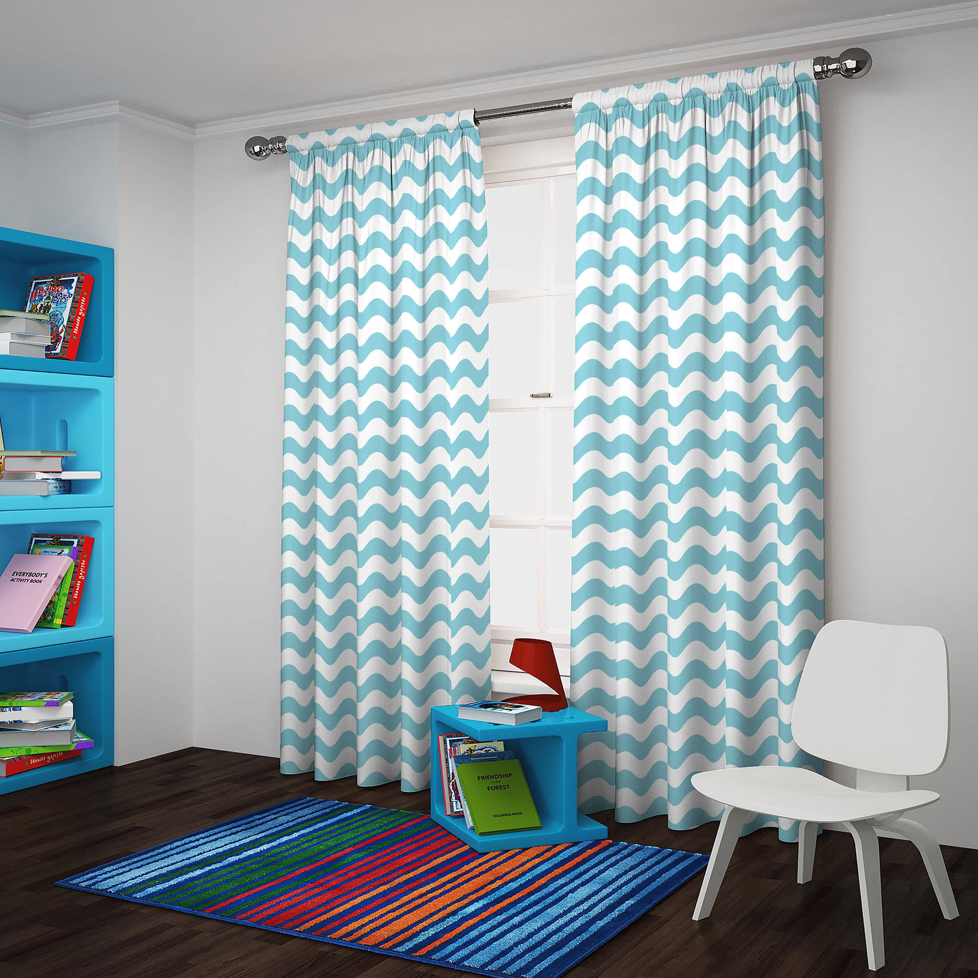 Eclipse Thermaback Blackout Wavy Chevron Curtain Panel For Thermaback Blackout Window Curtains (View 6 of 30)