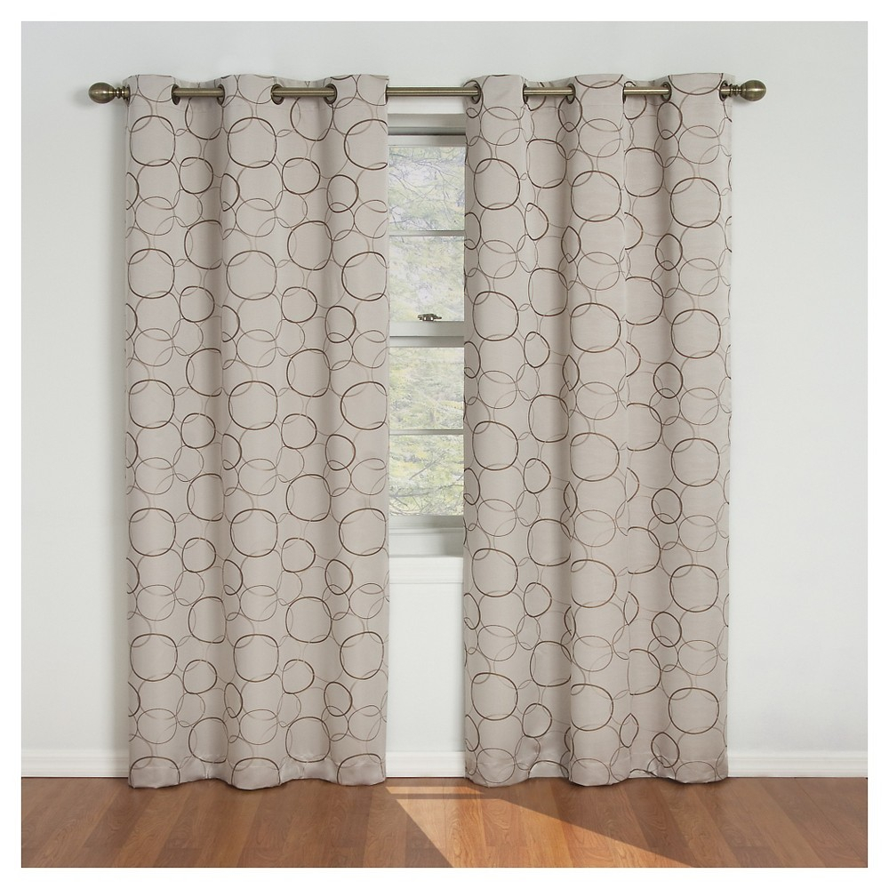 Eclipse Thermaback Meridian Blackout Curtain Panel – Linen In Meridian Blackout Window Curtain Panels (View 7 of 20)
