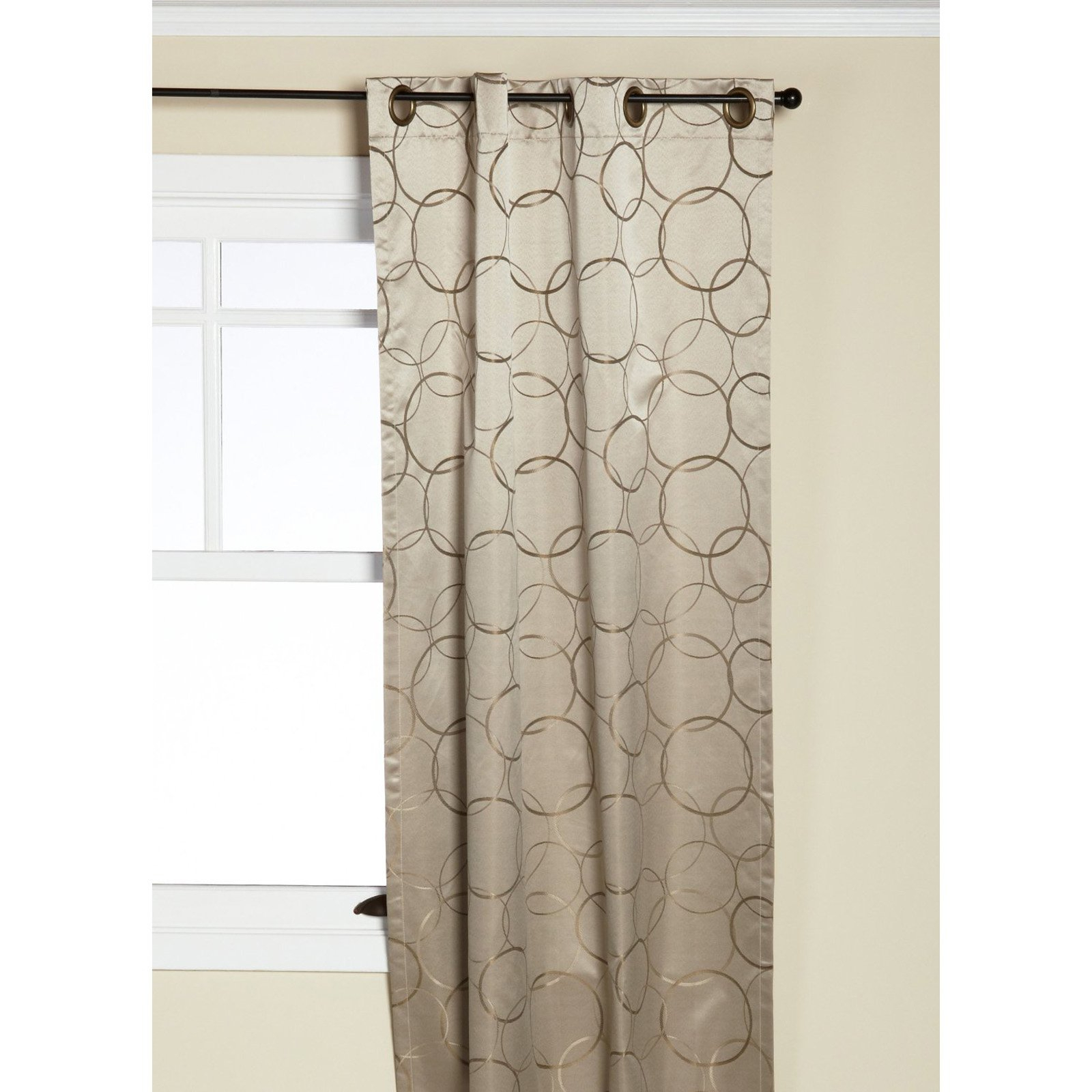 Eclipse Thermaback Meridian Grommet Blackout Window Panel Throughout Meridian Blackout Window Curtain Panels (View 19 of 20)