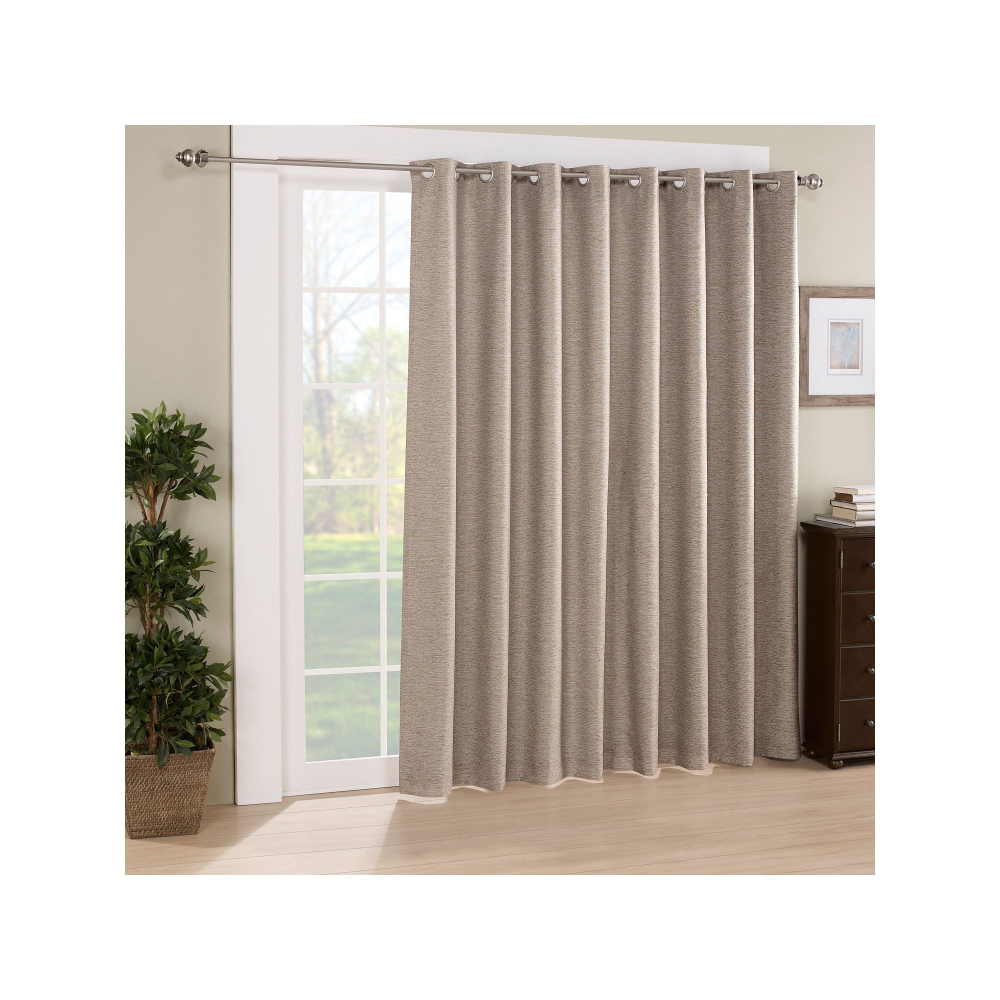 Eclipse Thermalayer Blackout 1 Panel Newport Patio Door In Eclipse Newport Blackout Curtain Panels (View 8 of 20)