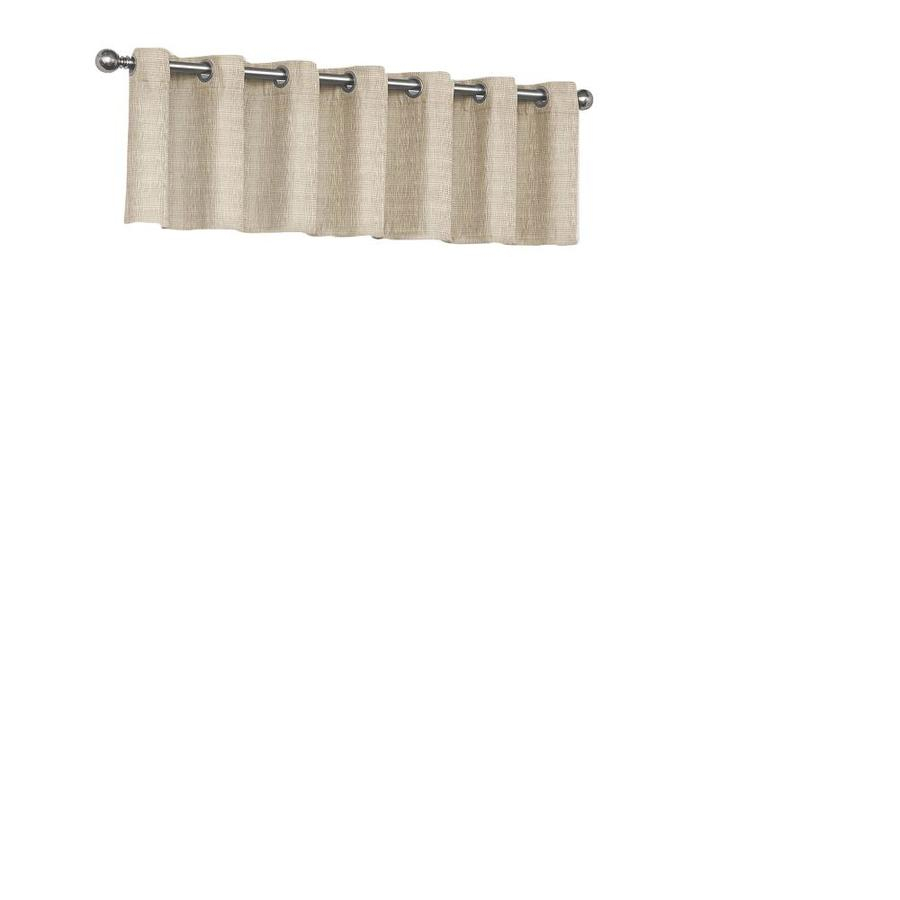 Eclipse Trevi 18 In Natural Polyester Grommet Valance At Intended For Eclipse Trevi Blackout Grommet Window Curtain Panels (View 16 of 20)