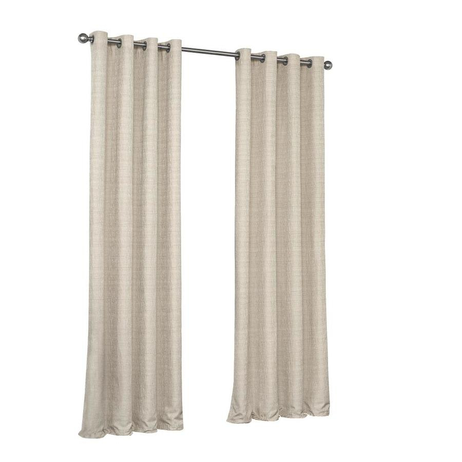 Eclipse Trevi 84 In Natural Polyester Blackout Thermal Lined For Eclipse Trevi Blackout Grommet Window Curtain Panels (View 6 of 20)