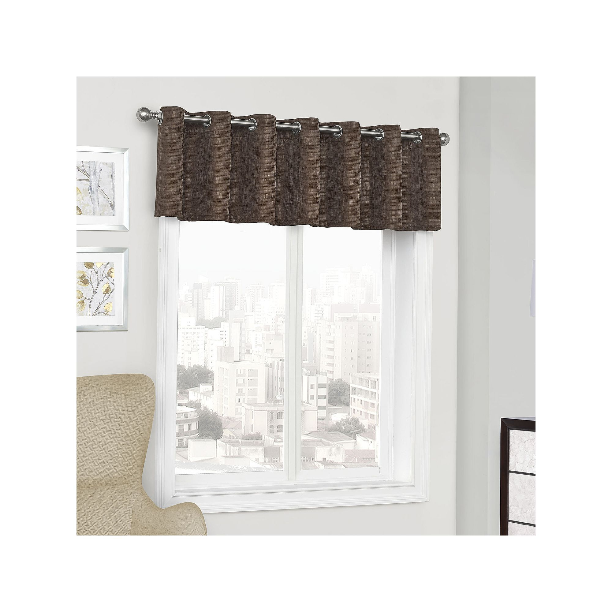 Eclipse Trevi Blackout Window Valance | Products | Valance With Regard To Eclipse Trevi Blackout Grommet Window Curtain Panels (View 13 of 20)