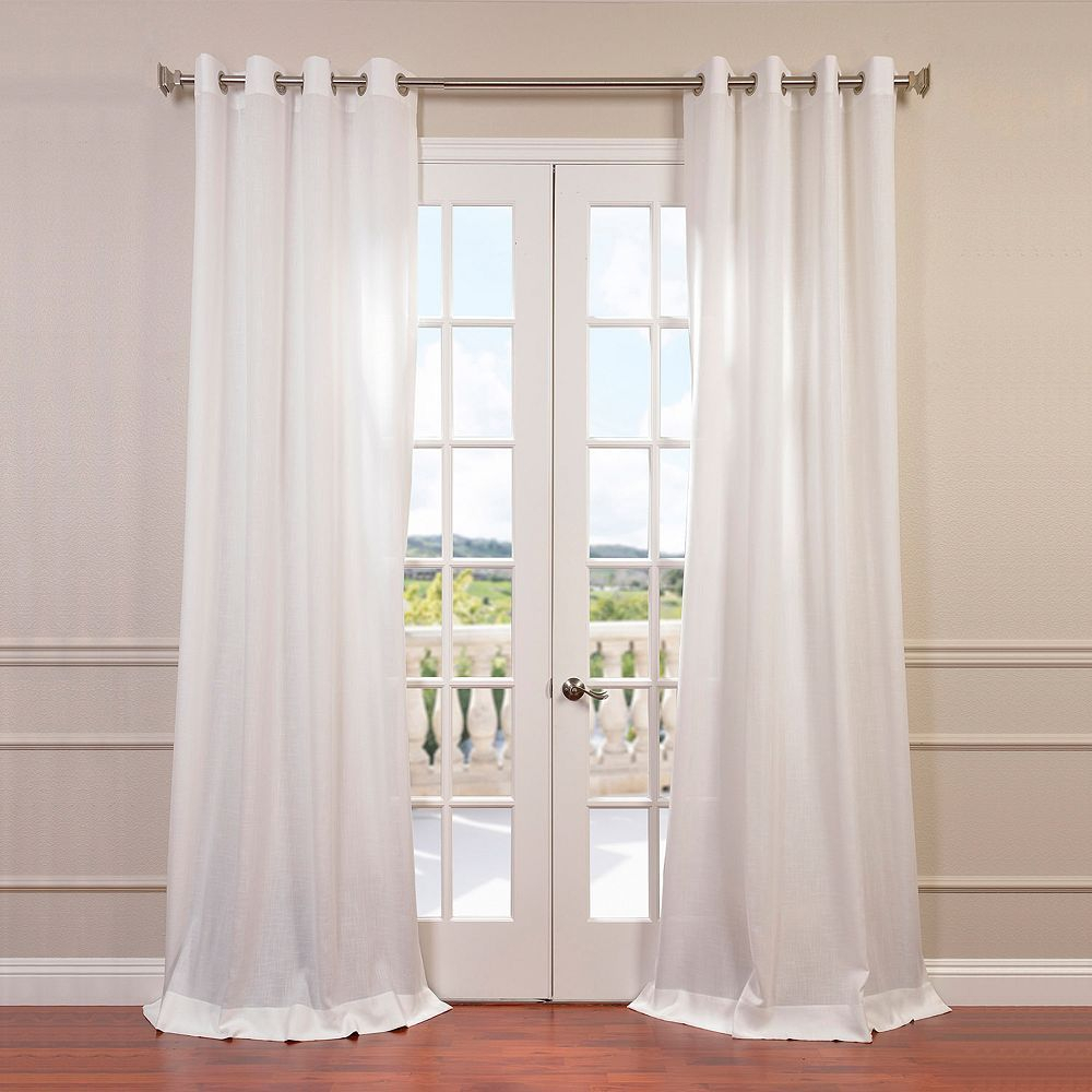 Eff Eff 1 Panel Solid Faux Linen Window Curtain | Products Within Faux Linen Extra Wide Blackout Curtains (View 16 of 20)