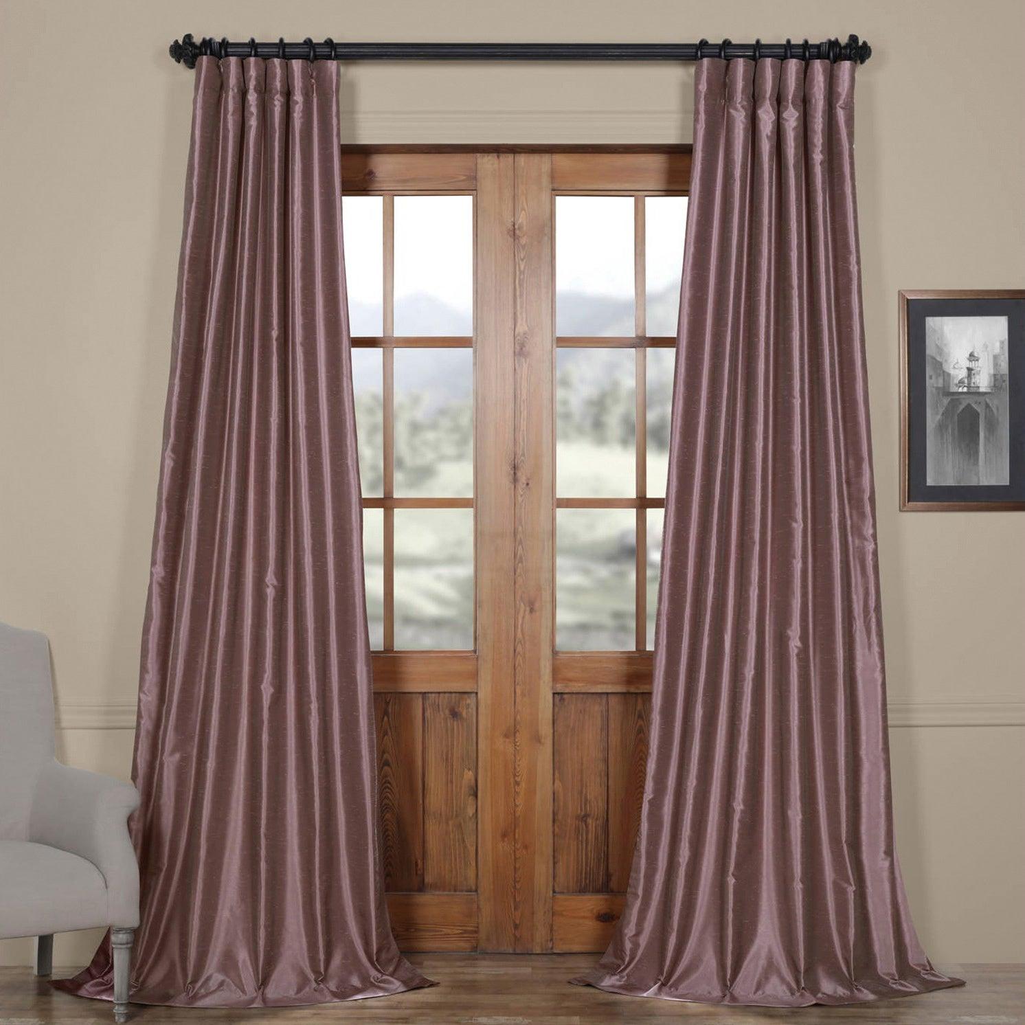 Eff Smoky Plum Vintage Faux Dupioni Silk Curtain Panel With Regard To True Blackout Vintage Textured Faux Silk Curtain Panels (View 19 of 30)