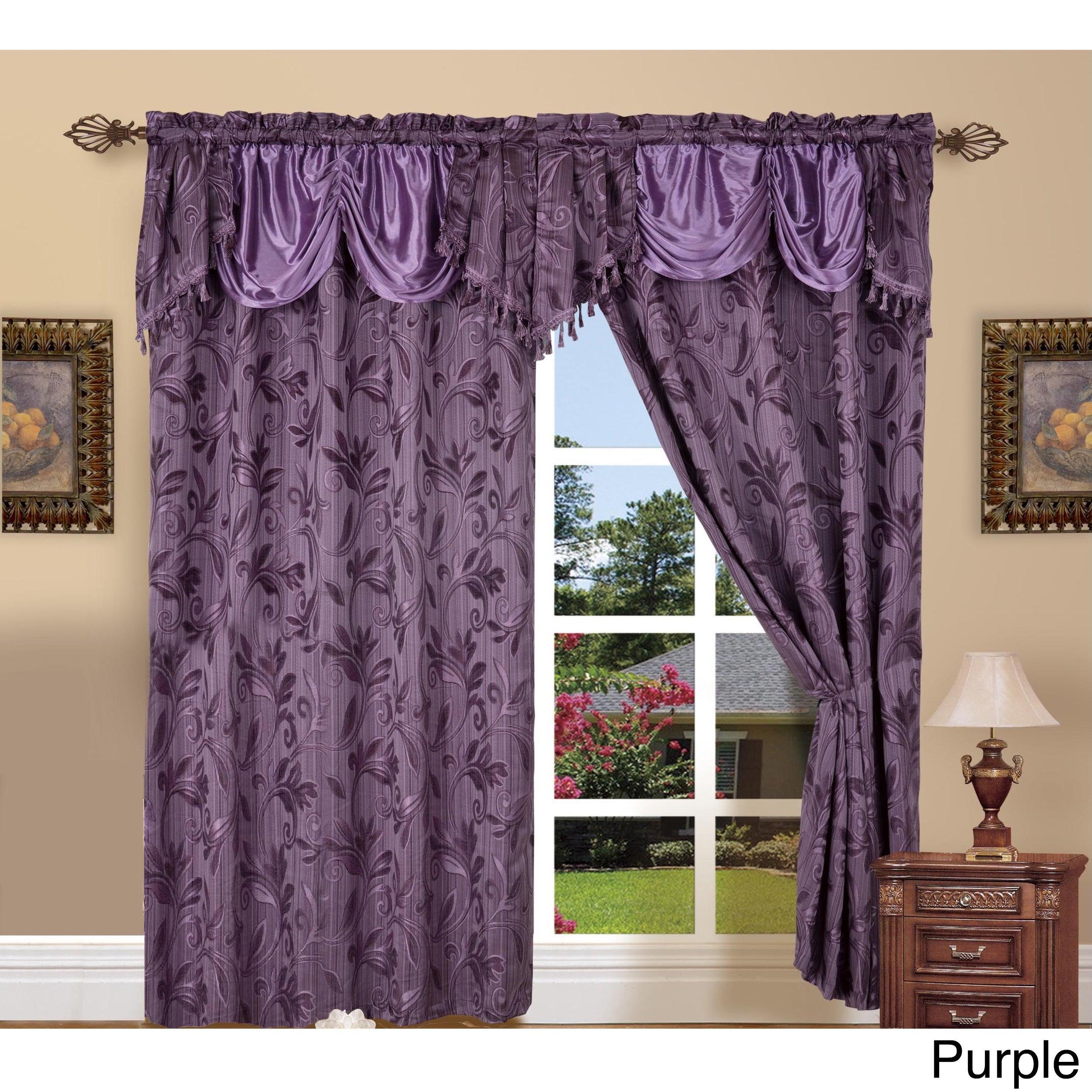 Elegant Comfort Luxury Jacquard Rod Pocket 54 Inch Window Curtain Panel Pair In Elegant Comfort Window Sheer Curtain Panel Pairs (View 5 of 20)