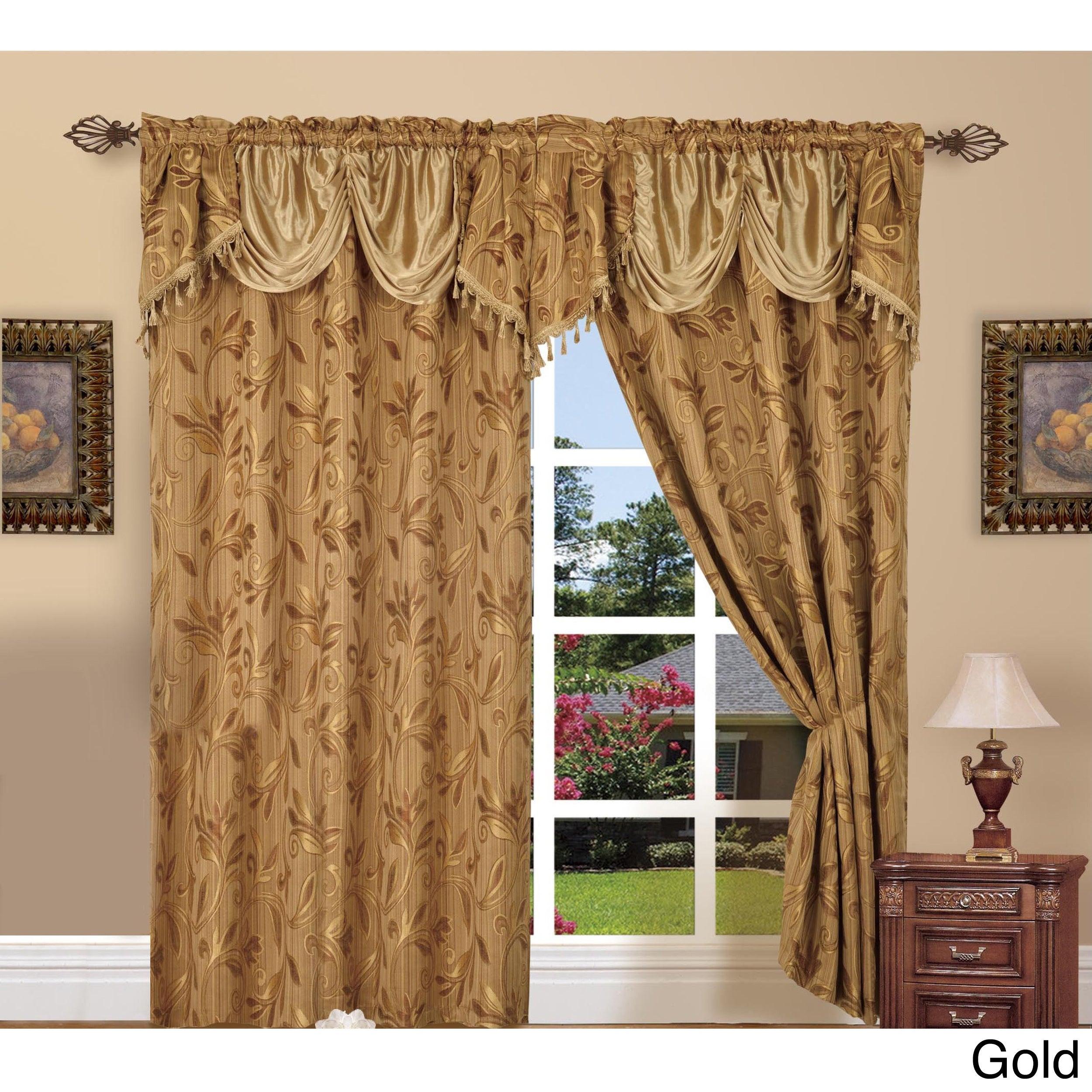 Elegant Comfort Luxury Jacquard Rod Pocket 54 Inch Window Curtain Panel Pair Within Elegant Comfort Luxury Penelopie Jacquard Window Curtain Panel Pairs (View 4 of 20)