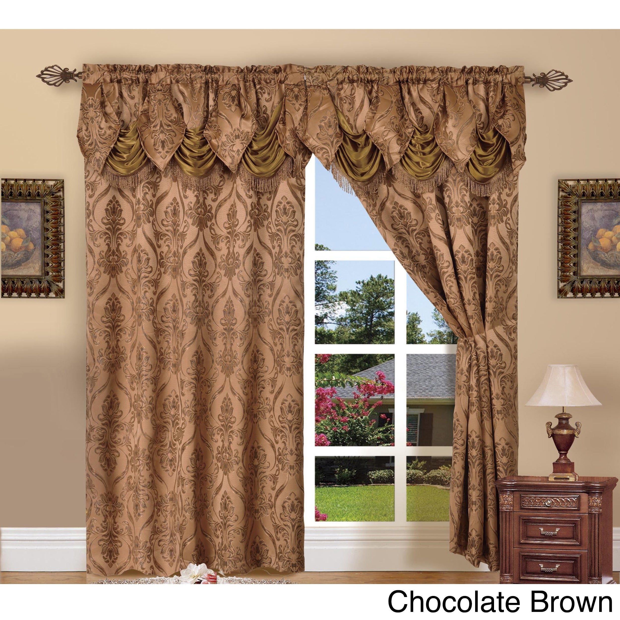 Elegant Comfort Luxury Penelopie Jacquard 84 Inch Length Window Curtain Panel Pair Intended For Elegant Comfort Luxury Penelopie Jacquard Window Curtain Panel Pairs (View 2 of 20)