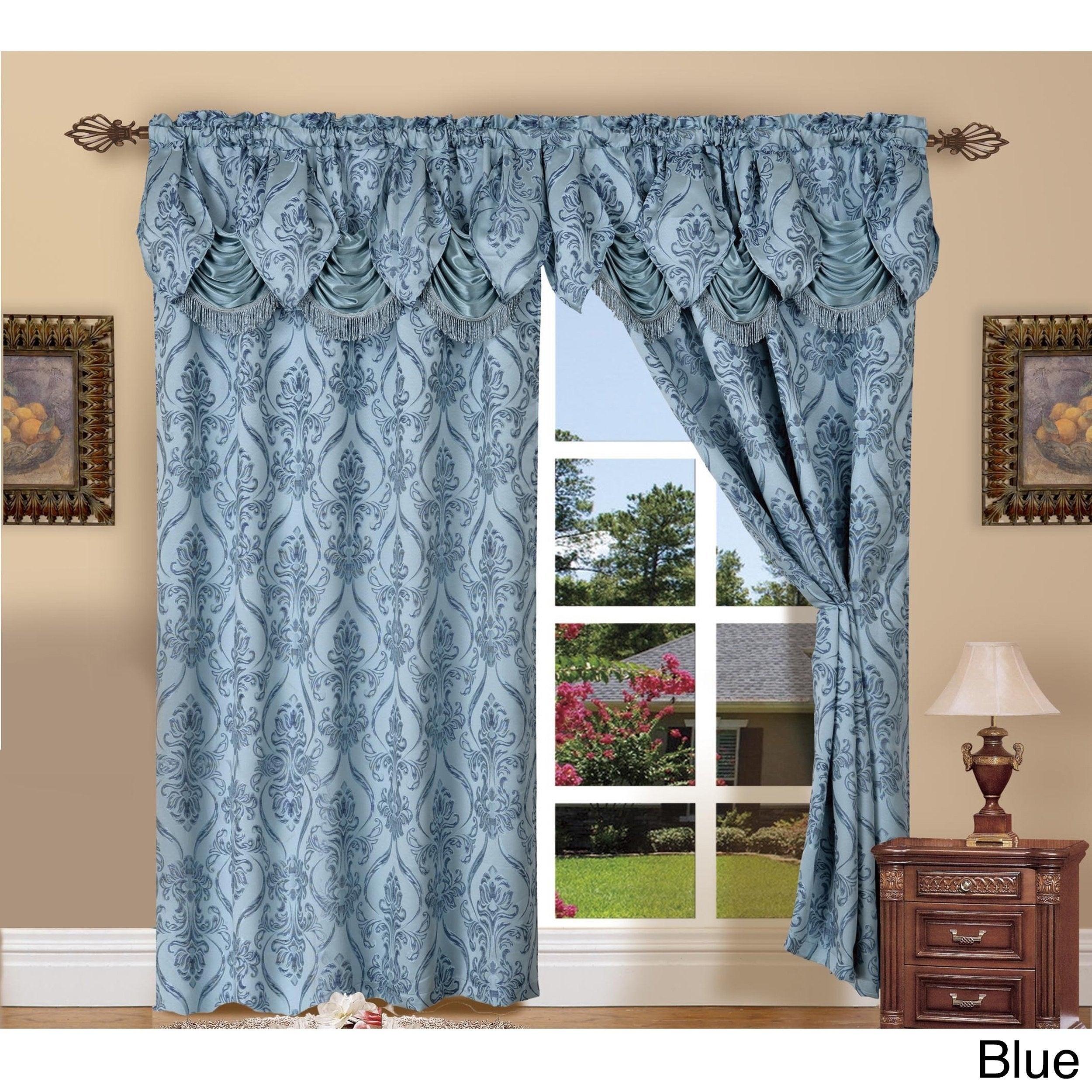 Elegant Comfort Luxury Penelopie Jacquard 84 Inch Length Window Curtain Panel Pair With Regard To Elegant Comfort Luxury Penelopie Jacquard Window Curtain Panel Pairs (View 3 of 20)