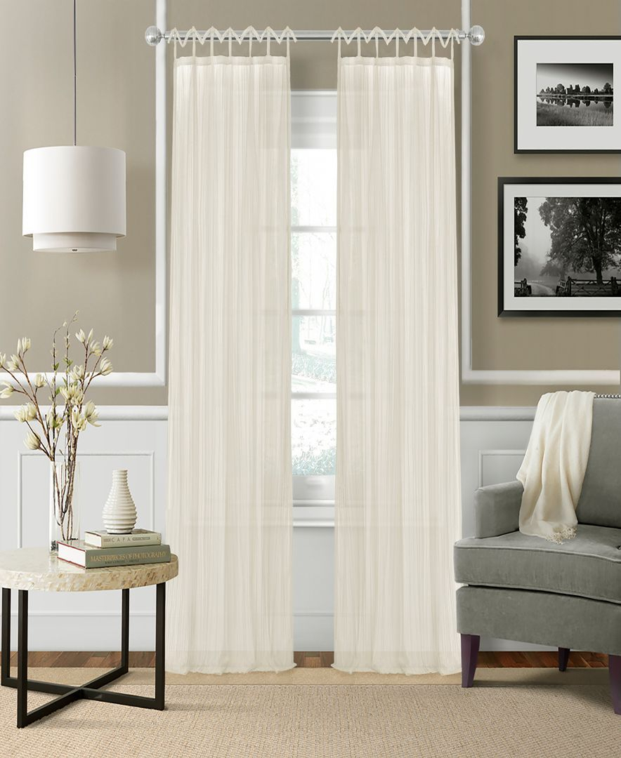 Elegantly Elevate Any Room's Look And Feel With The Delicate With Elrene Jolie Tie Top Curtain Panels (View 13 of 20)