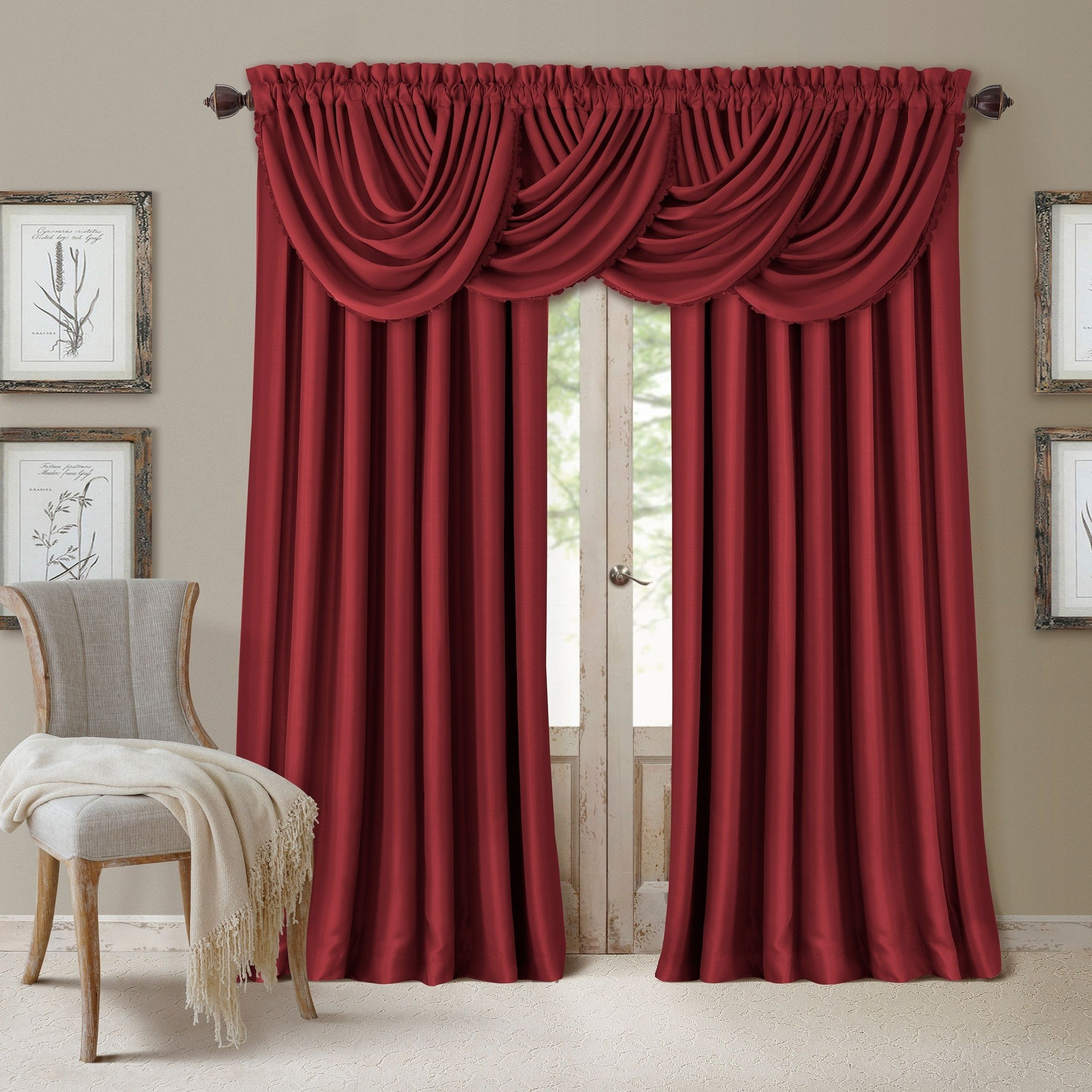 """Elrene All Seasons Blackout Curtain Panel (52""""x84"""" – Rouge Within Elrene Mia Jacquard Blackout Curtain Panels (View 18 of 20)"""