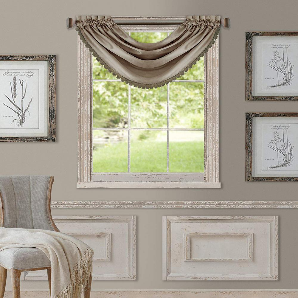 Elrene All Seasons Waterfall Window Valance For All Seasons Blackout Window Curtains (View 4 of 20)
