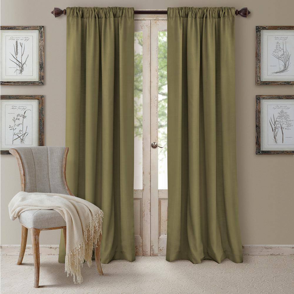Elrene Cachet Textured Solid Blackout Window Curtain Within Elrene Mia Jacquard Blackout Curtain Panels (View 11 of 20)
