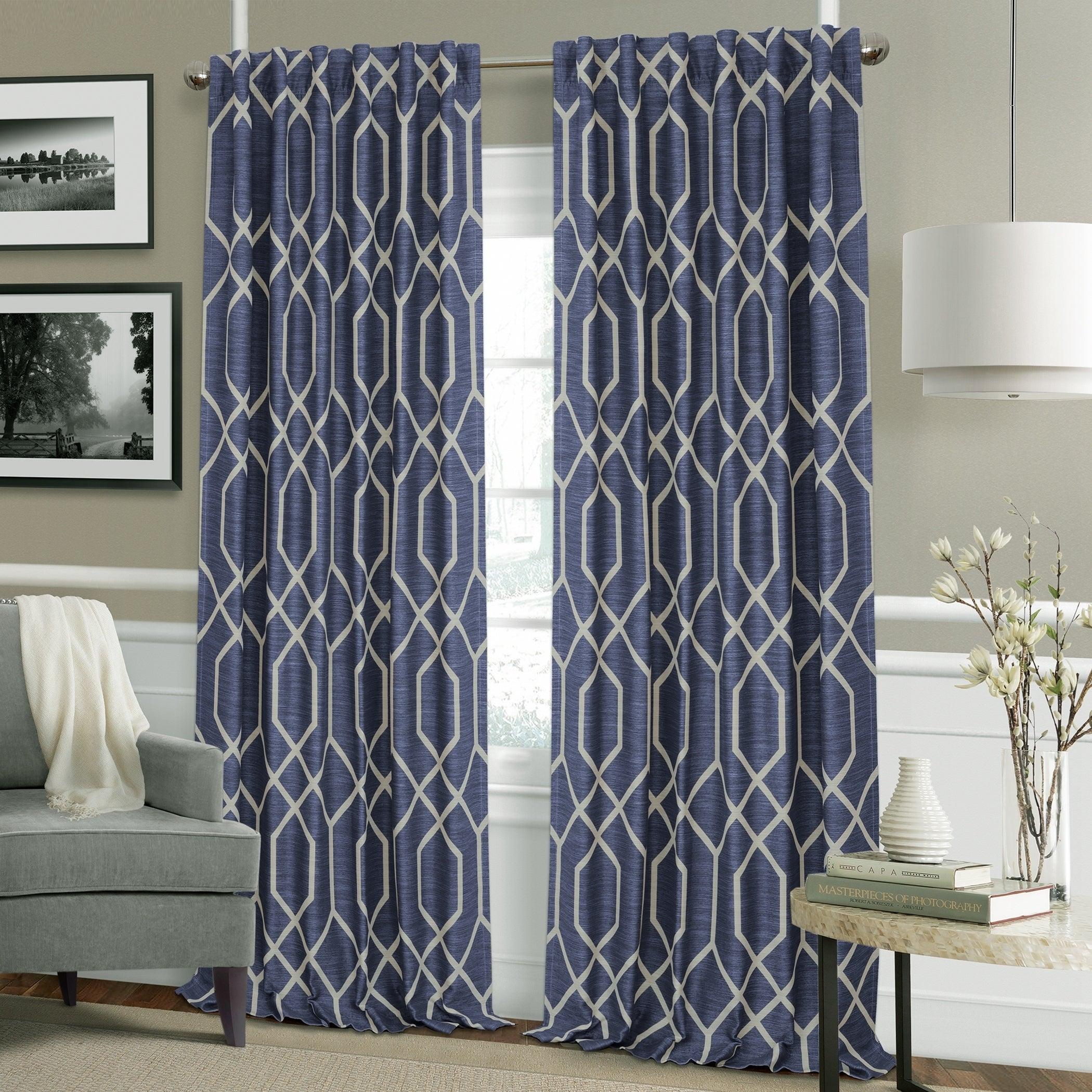 Elrene Devin Geometric Room Darkening Curtains With Kaiden Geometric Room Darkening Window Curtains (View 20 of 20)