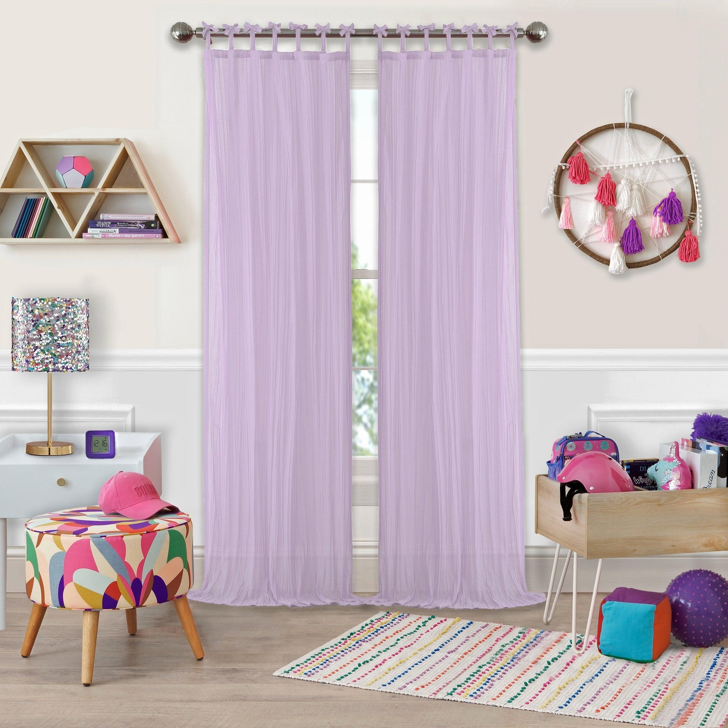 Elrene Greta Kid's Tab Top Sheer Window Curtain Panel With Regard To Elrene Jolie Tie Top Curtain Panels (View 18 of 20)