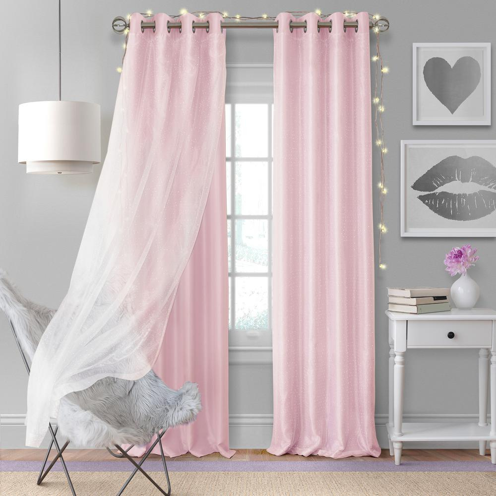 Featured Photo of Elrene Aurora Kids Room Darkening Layered Sheer Curtains
