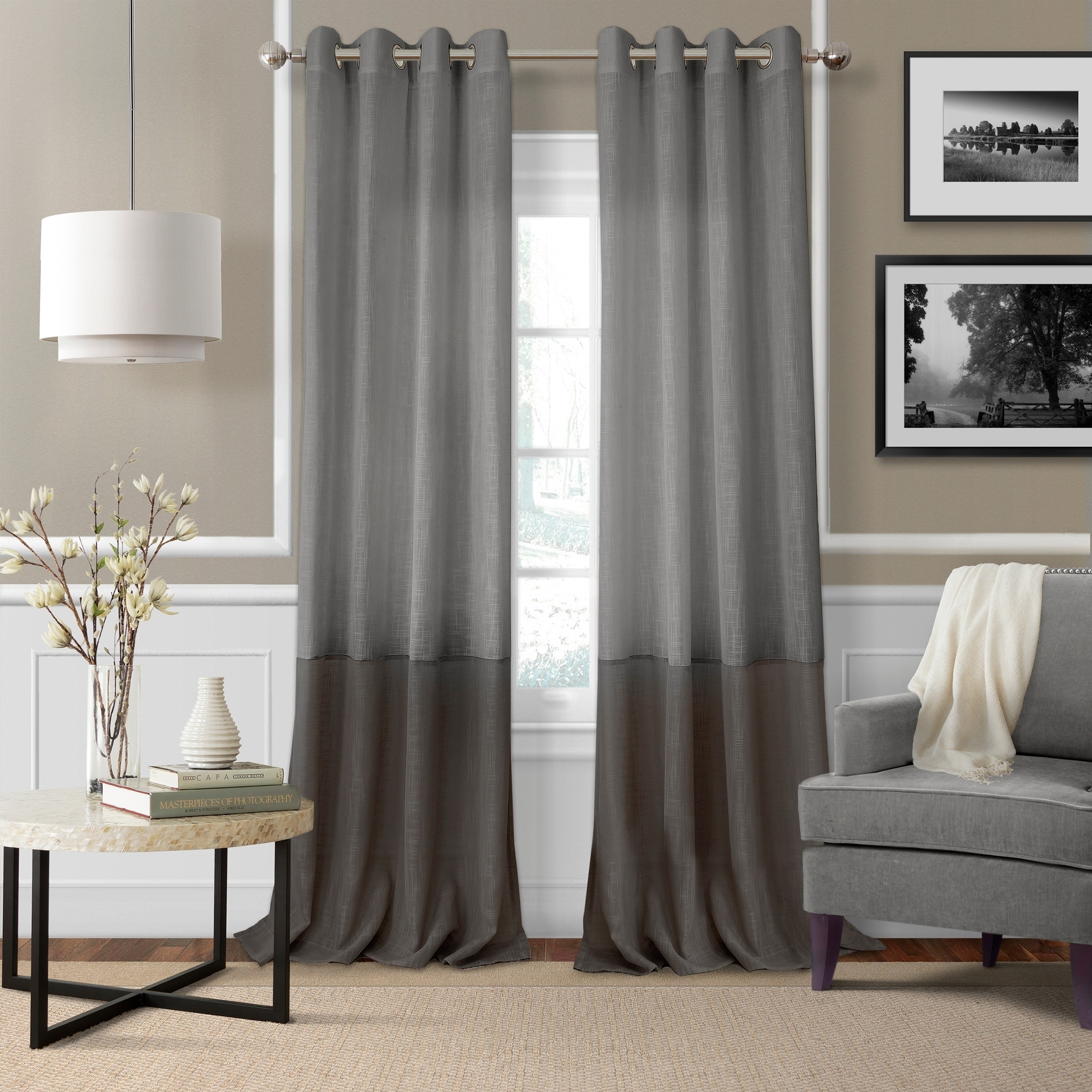 Elrene Home Fashions Melody Single Curtain Panel For Single Curtain Panels (View 18 of 31)