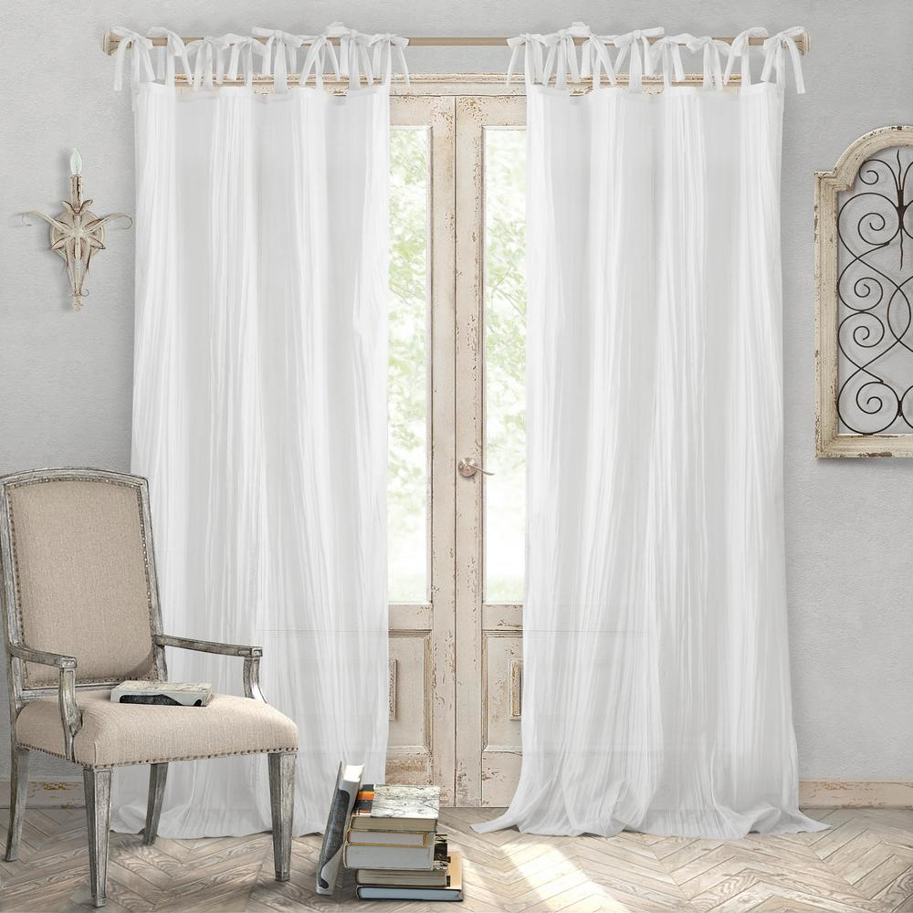 Elrene Jolie Semi Sheer Tab Top Window Curtain Pertaining To Tab Top Sheer Single Curtain Panels (View 21 of 30)