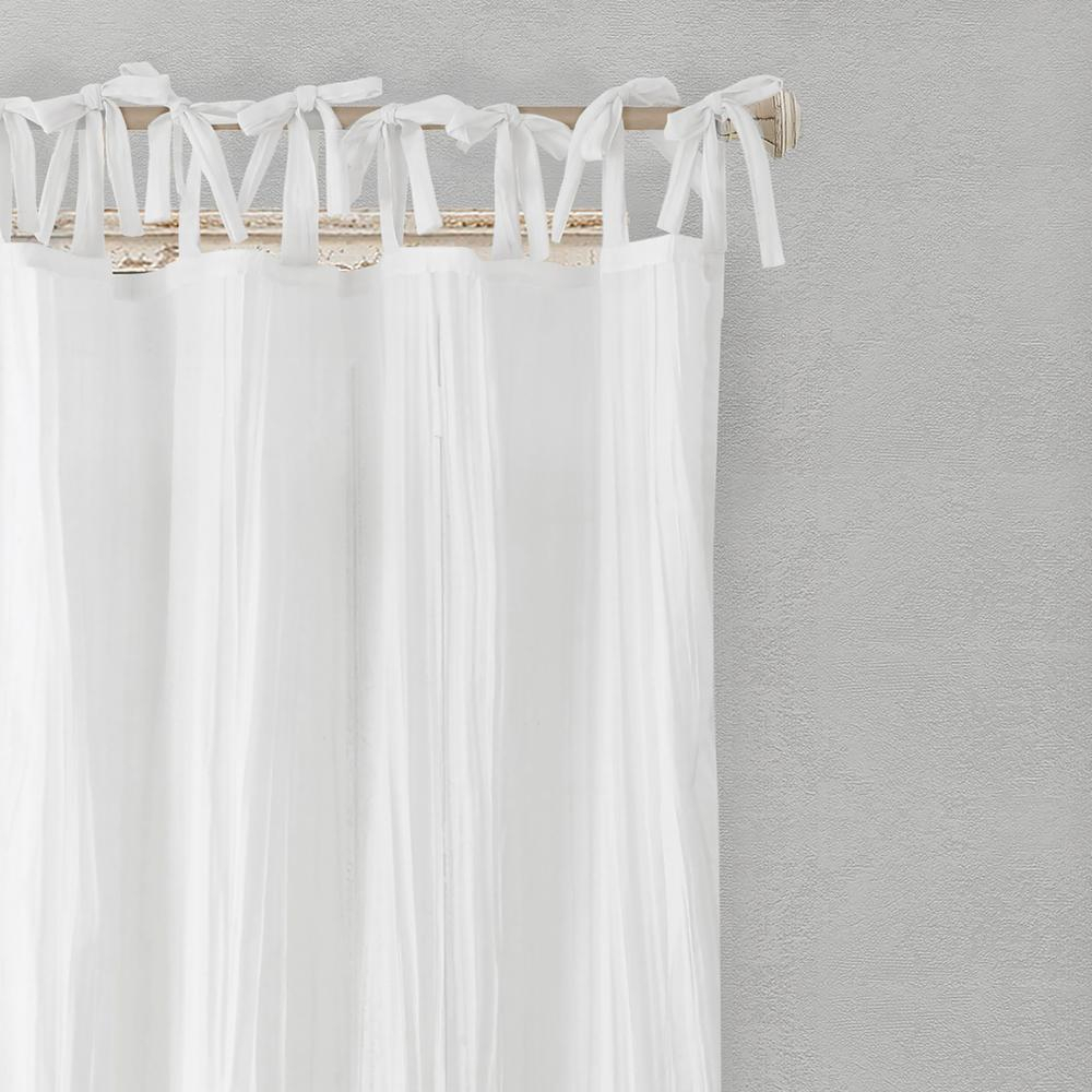Elrene Jolie Semi Sheer Tab Top Window Curtain Throughout Elrene Jolie Tie Top Curtain Panels (View 2 of 20)