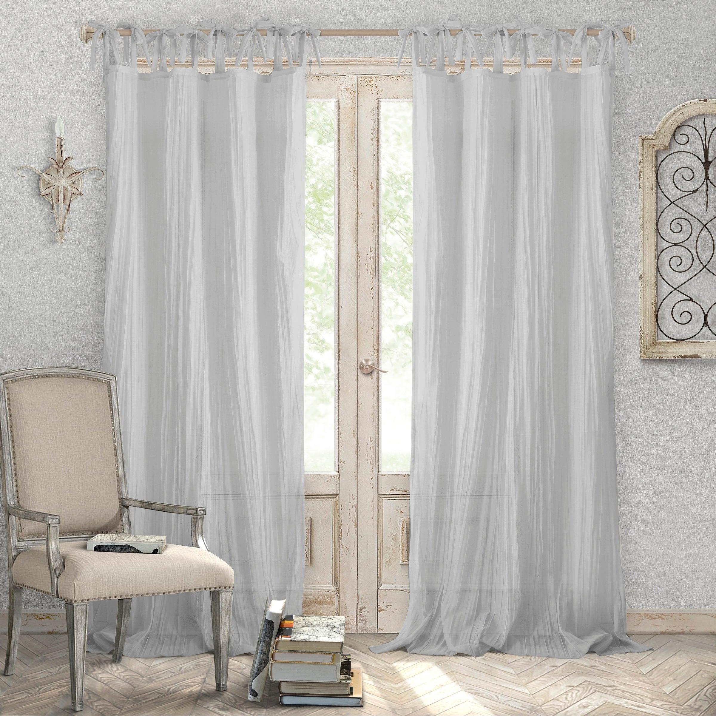 Featured Photo of Elrene Jolie Tie Top Curtain Panels