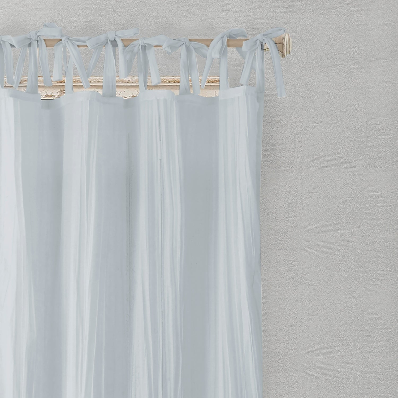 Elrene Jolie Tie Top Curtain Panel With Regard To Elrene Jolie Tie Top Curtain Panels (View 6 of 20)
