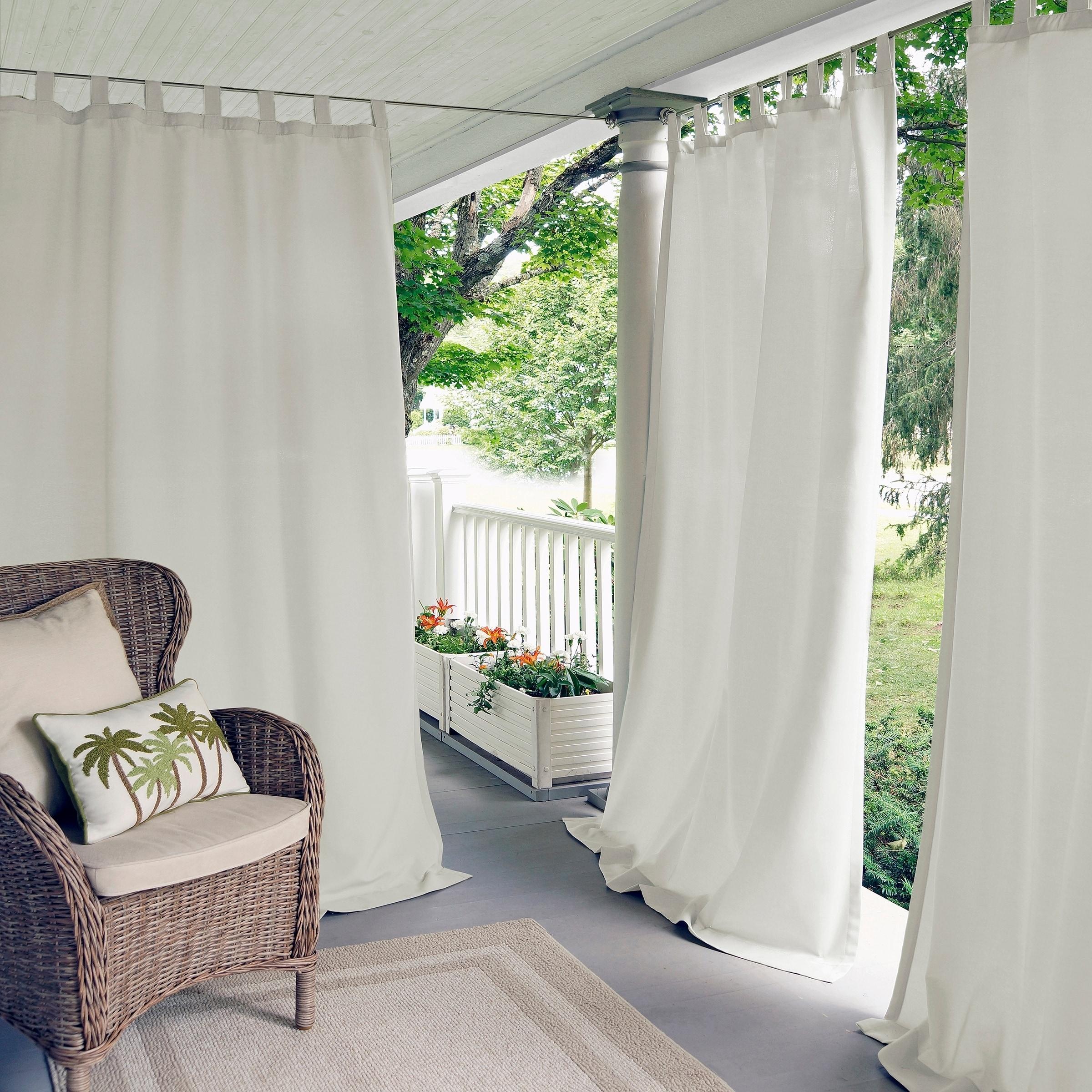 "Elrene Matine Indoor/outdoor Curtain Panel (52"" W X 84"" L In Matine Indoor/outdoor Curtain Panels (View 2 of 20)"