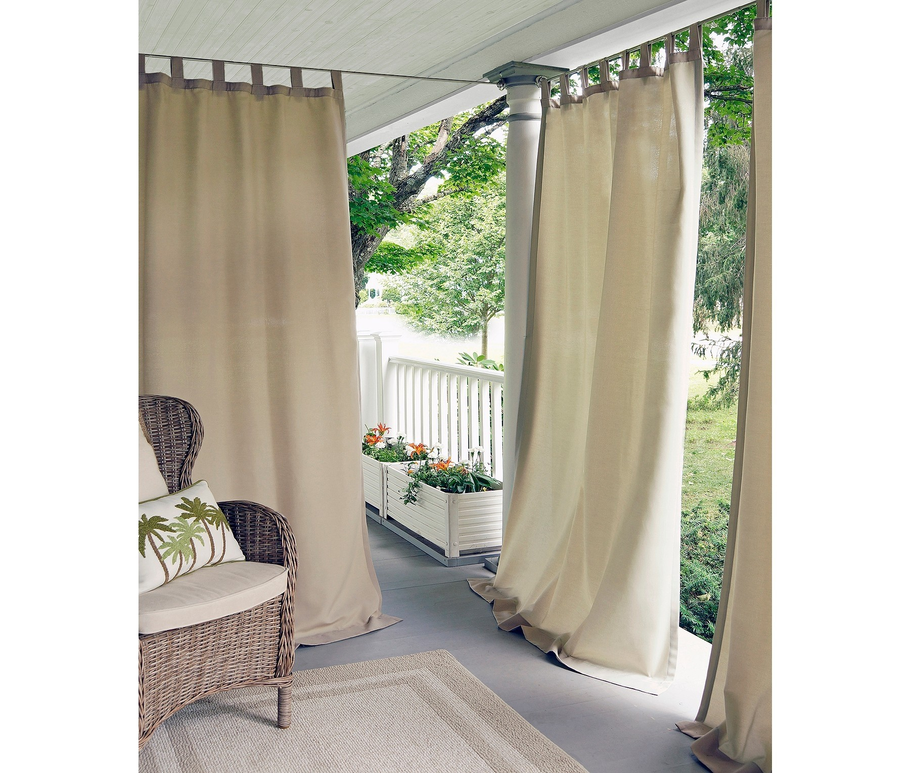 """Elrene Matine Solid Indoor/outdoor 52"""" X 95"""" Window Curtain Panel Taupe Within Matine Indoor/outdoor Curtain Panels (View 9 of 20)"""