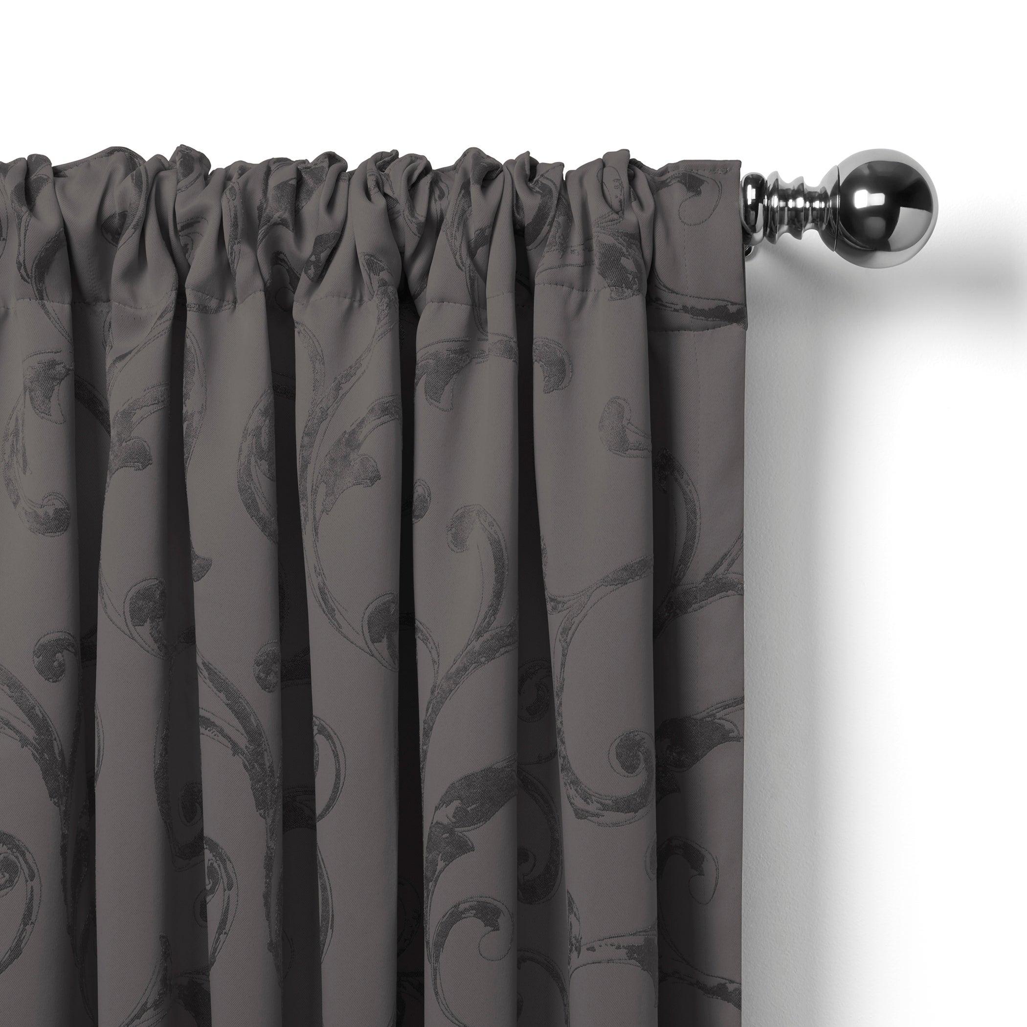 Elrene Mia Jacquard Blackout Curtain Panel Regarding Elrene Mia Jacquard Blackout Curtain Panels (View 4 of 20)