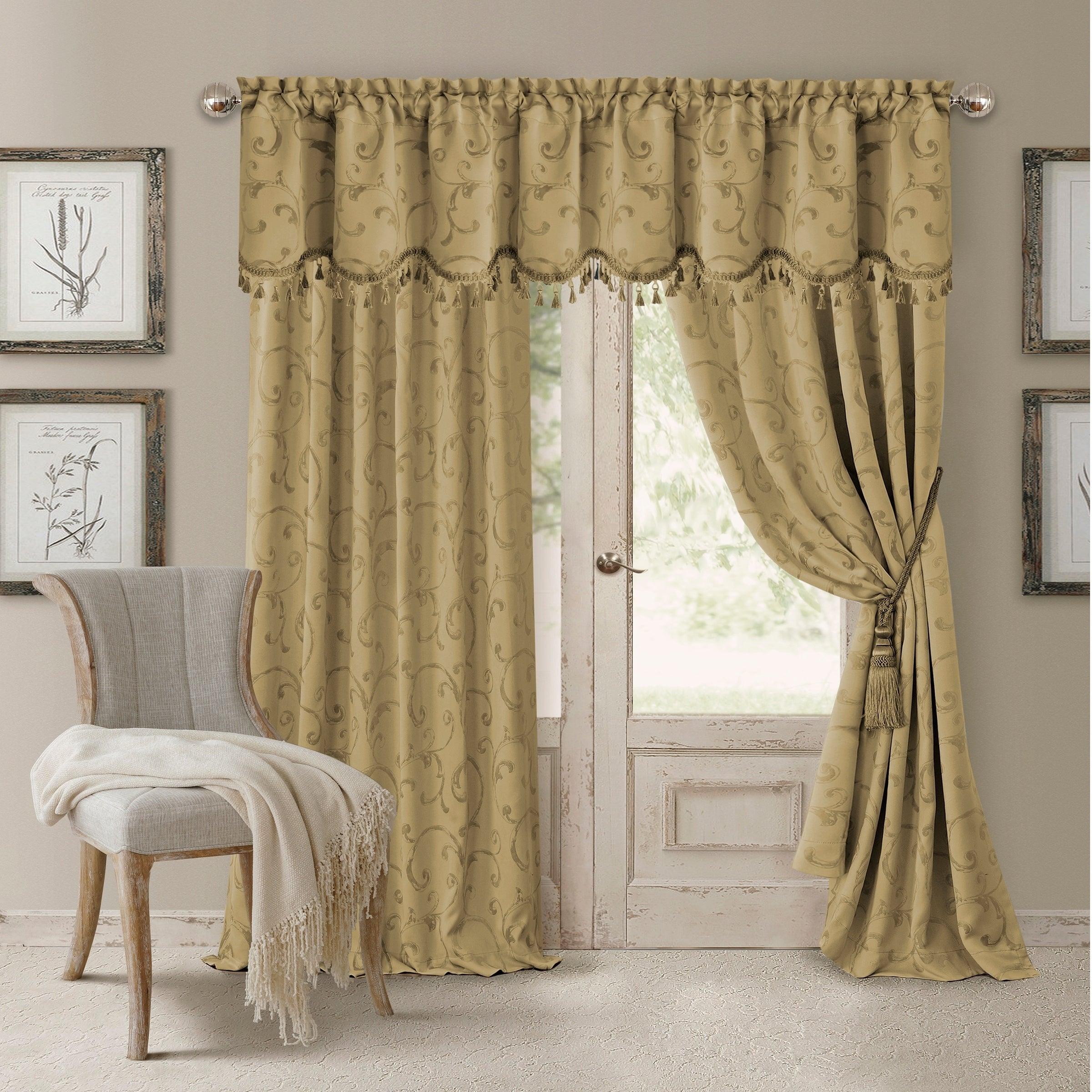 Elrene Mia Jacquard Blackout Curtain Panel Regarding Elrene Mia Jacquard Blackout Curtain Panels (View 3 of 20)