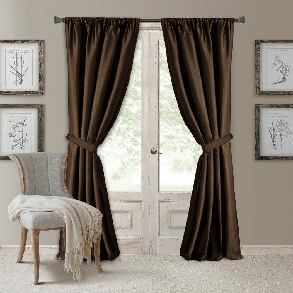 Elrene Versailles Faux Silk Blackout Window Curtain Pertaining To Elrene Versailles Pleated Blackout Curtain Panels (View 2 of 20)