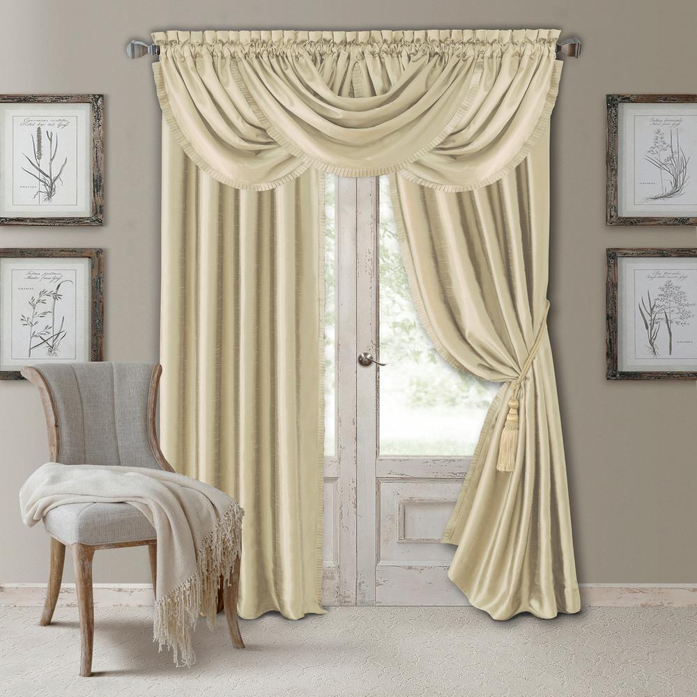Elrene Versailles Faux Silk Blackout Window Curtain Regarding All Seasons Blackout Window Curtains (View 5 of 20)