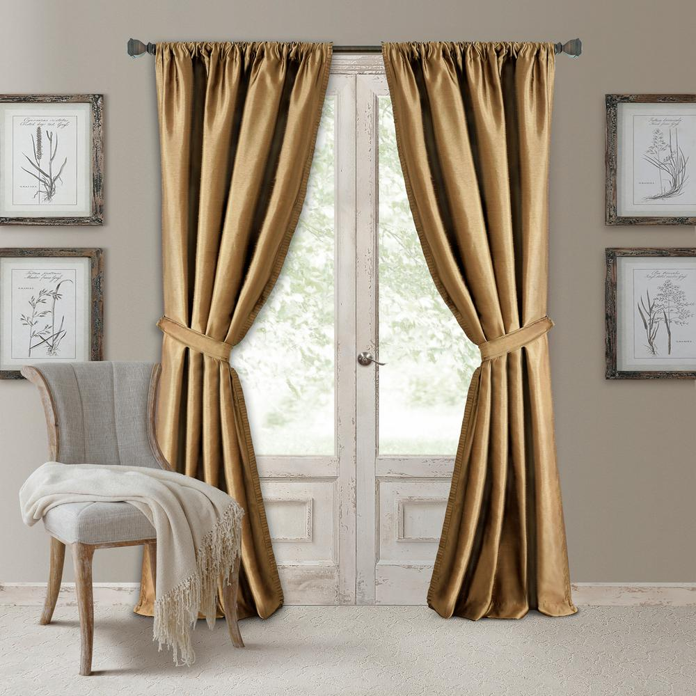 Elrene Versailles Faux Silk Blackout Window Curtain Within Elrene Mia Jacquard Blackout Curtain Panels (View 15 of 20)