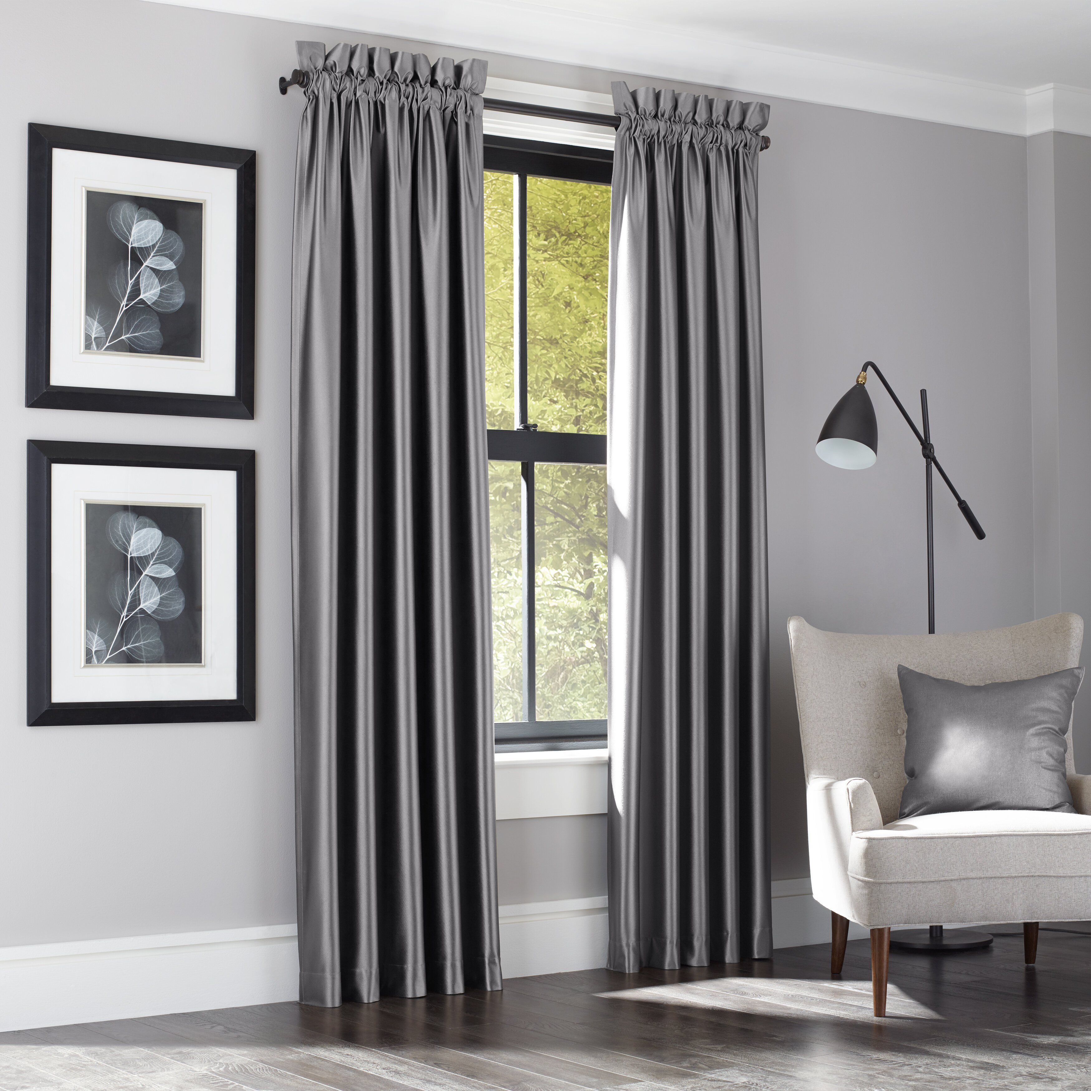 Emborough Solid Room Darkening Thermal Rod Pocket Panel Pair With Thermal Rod Pocket Blackout Curtain Panel Pairs (View 19 of 30)