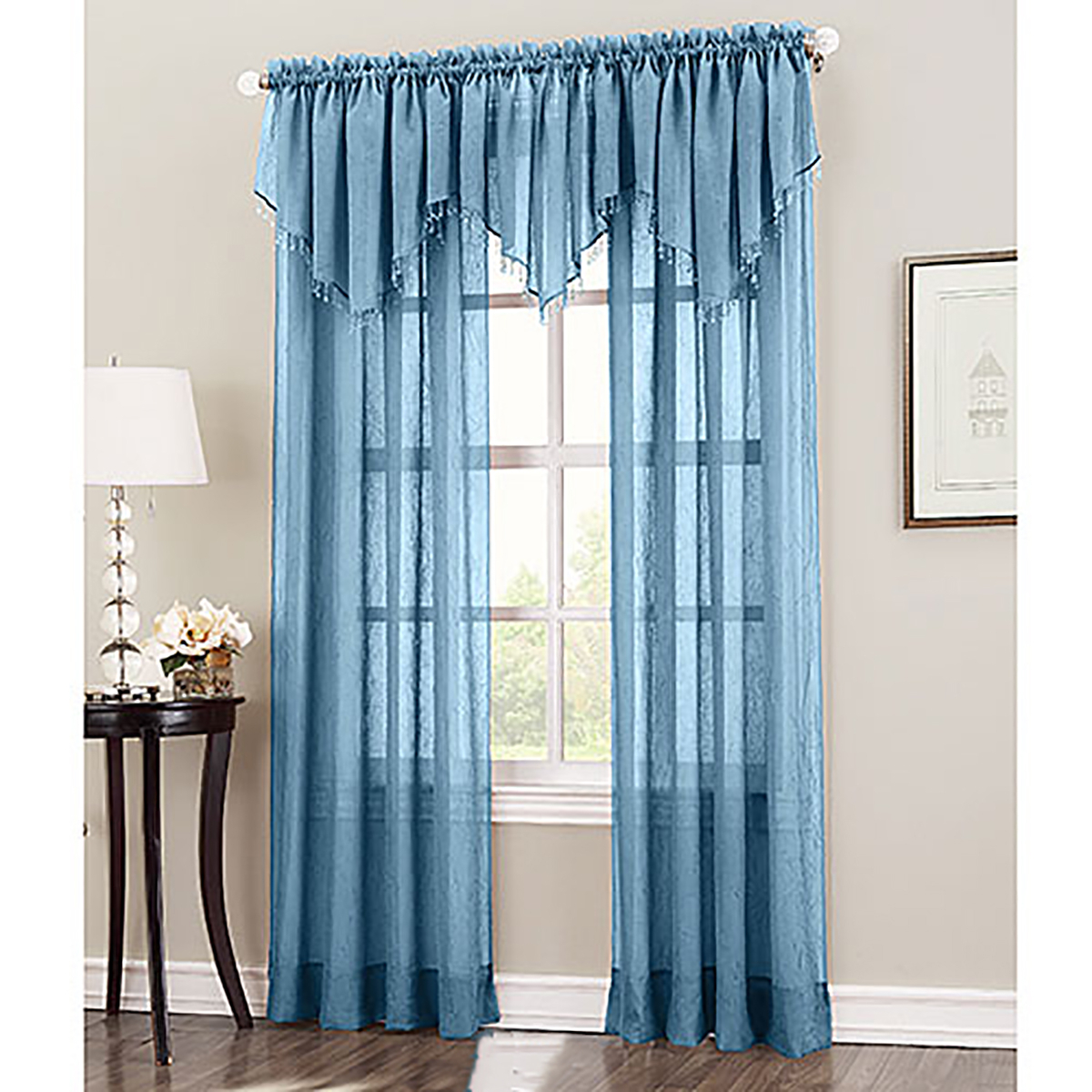 Erica Crushed Voile Curtain Panel With Erica Crushed Sheer Voile Grommet Curtain Panels (View 15 of 20)