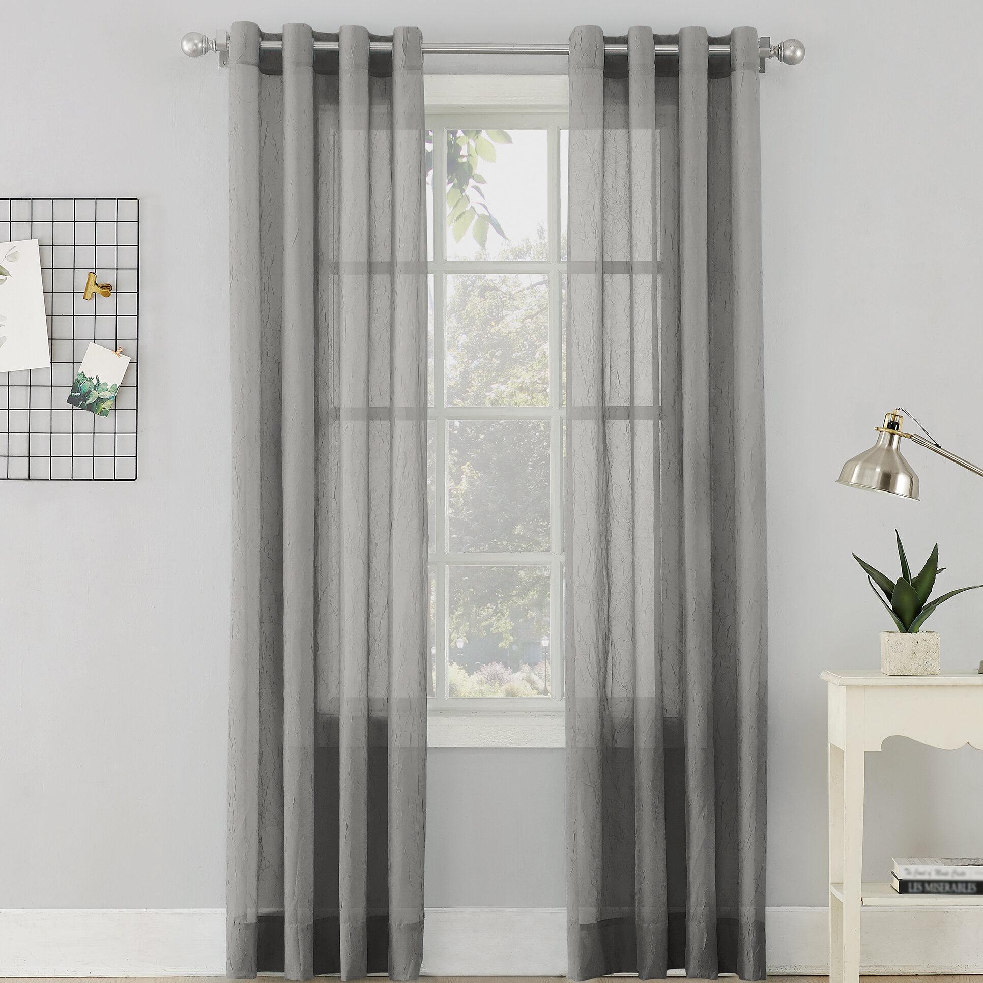 Erica Sheer Grommet Single Curtain Panel Regarding Luxury Collection Cranston Sheer Curtain Panel Pairs (View 14 of 20)