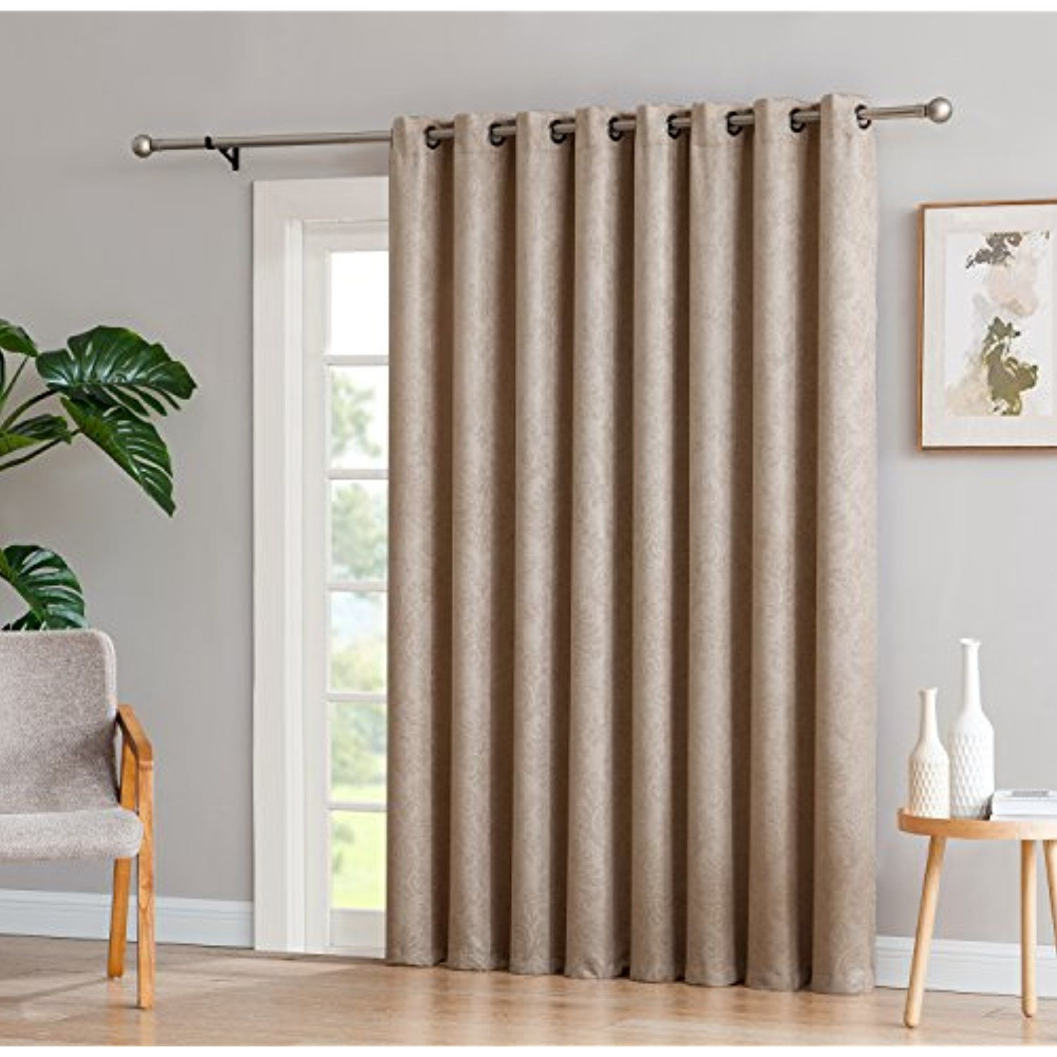 Featured Photo of Embossed Thermal Weaved Blackout Grommet Drapery Curtains