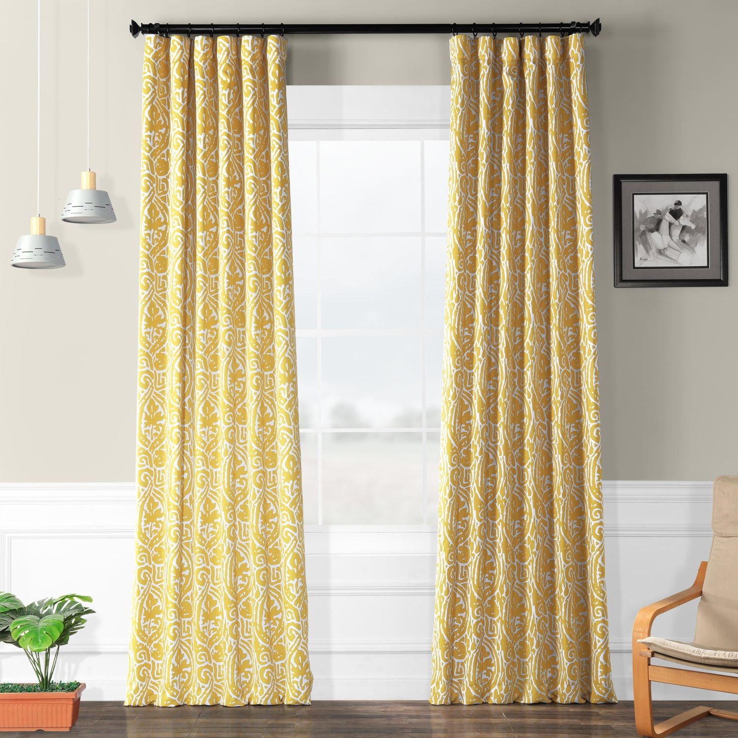 Featured Photo of Abstract Blackout Curtain Panel Pairs