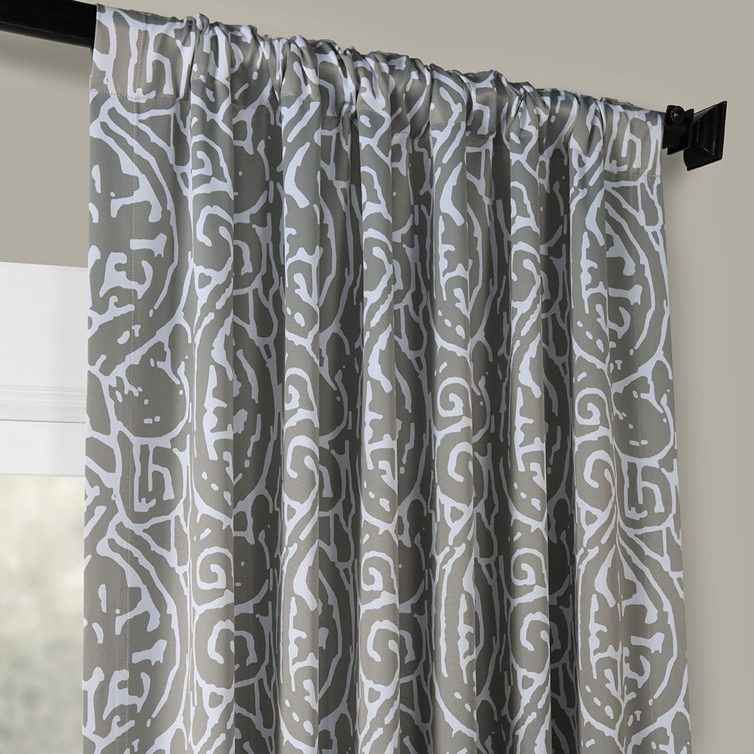 Exclusive Fabrics Abstract Blackout Curtain Panel Pair Inside Abstract Blackout Curtain Panel Pairs (Image 10 of 22)