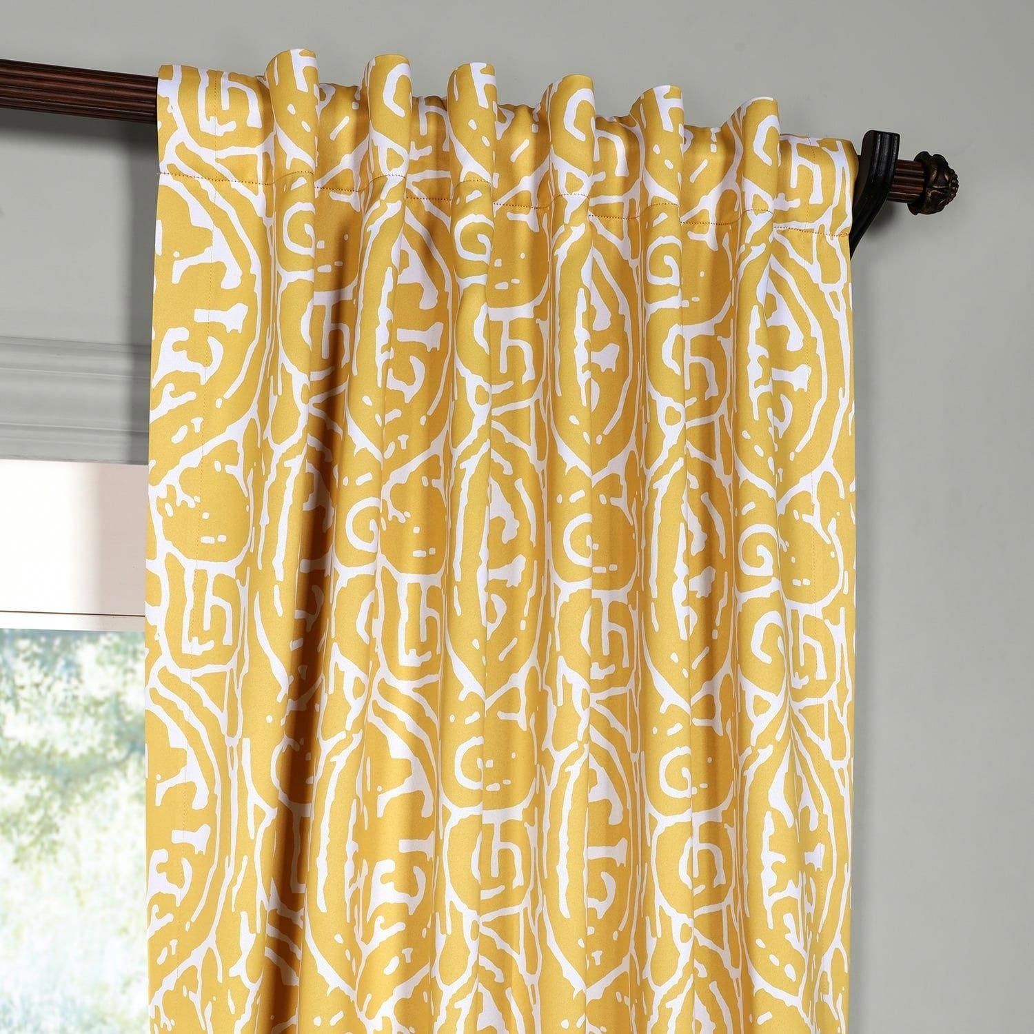 Exclusive Fabrics Abstract Blackout Curtain Panel Pair Throughout Abstract Blackout Curtain Panel Pairs (Image 12 of 22)