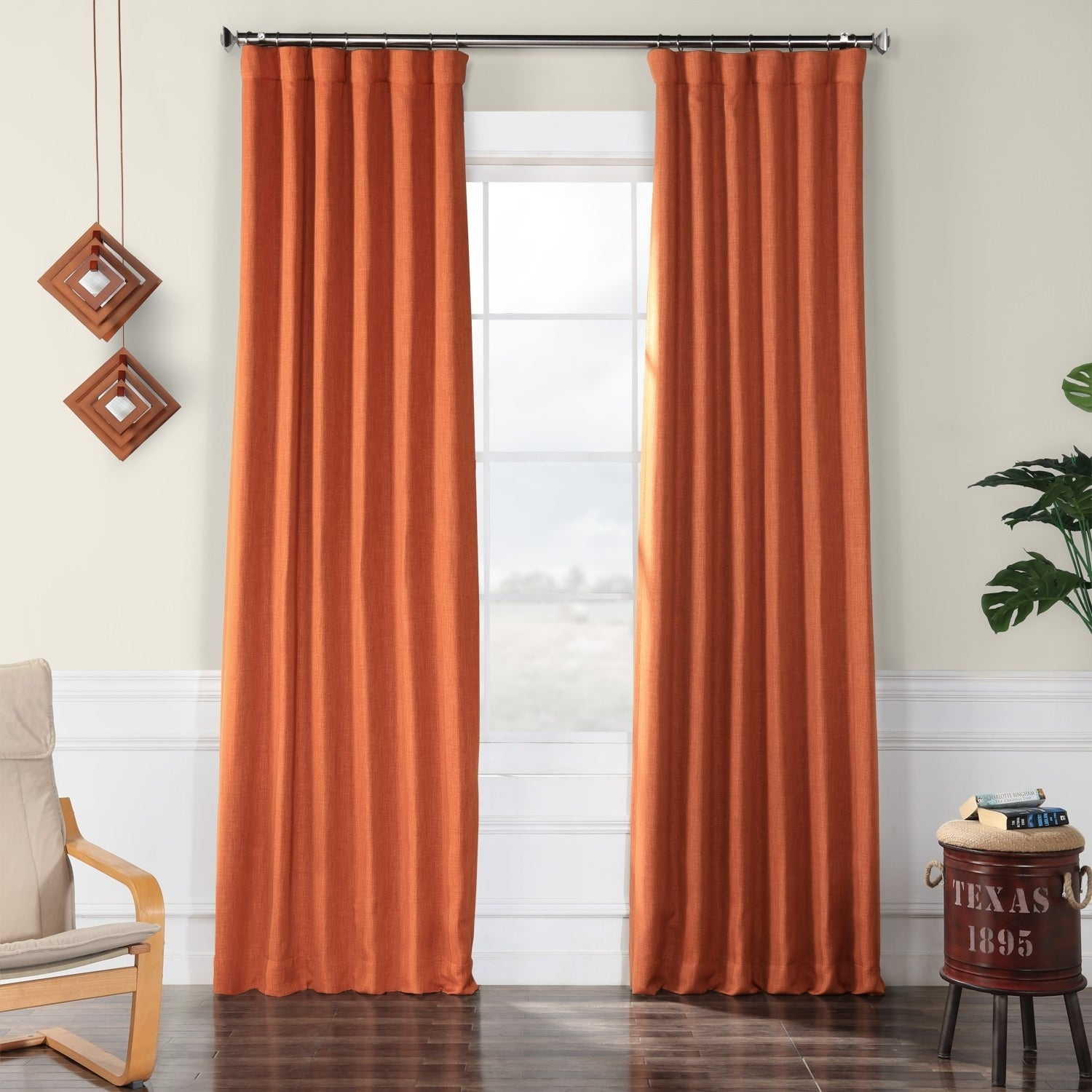 Exclusive Fabrics Faux Linen Blackout Curtain For Faux Linen Blackout Curtains (View 10 of 20)