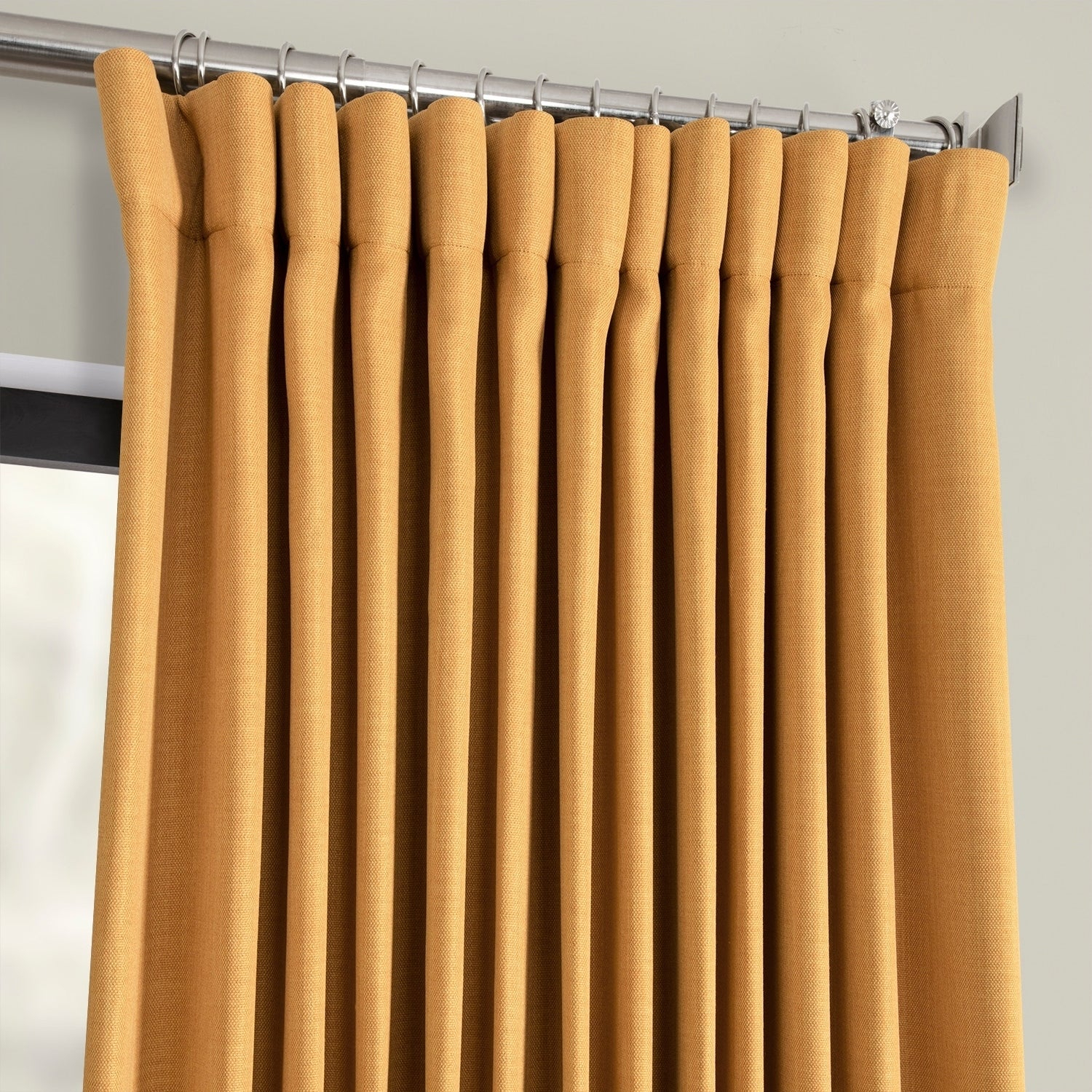 Exclusive Fabrics Faux Linen Extra Wide Blackout Curtain In Oatmeal – 100 X 96 – (as Is Item) With Faux Linen Extra Wide Blackout Curtains (View 13 of 20)